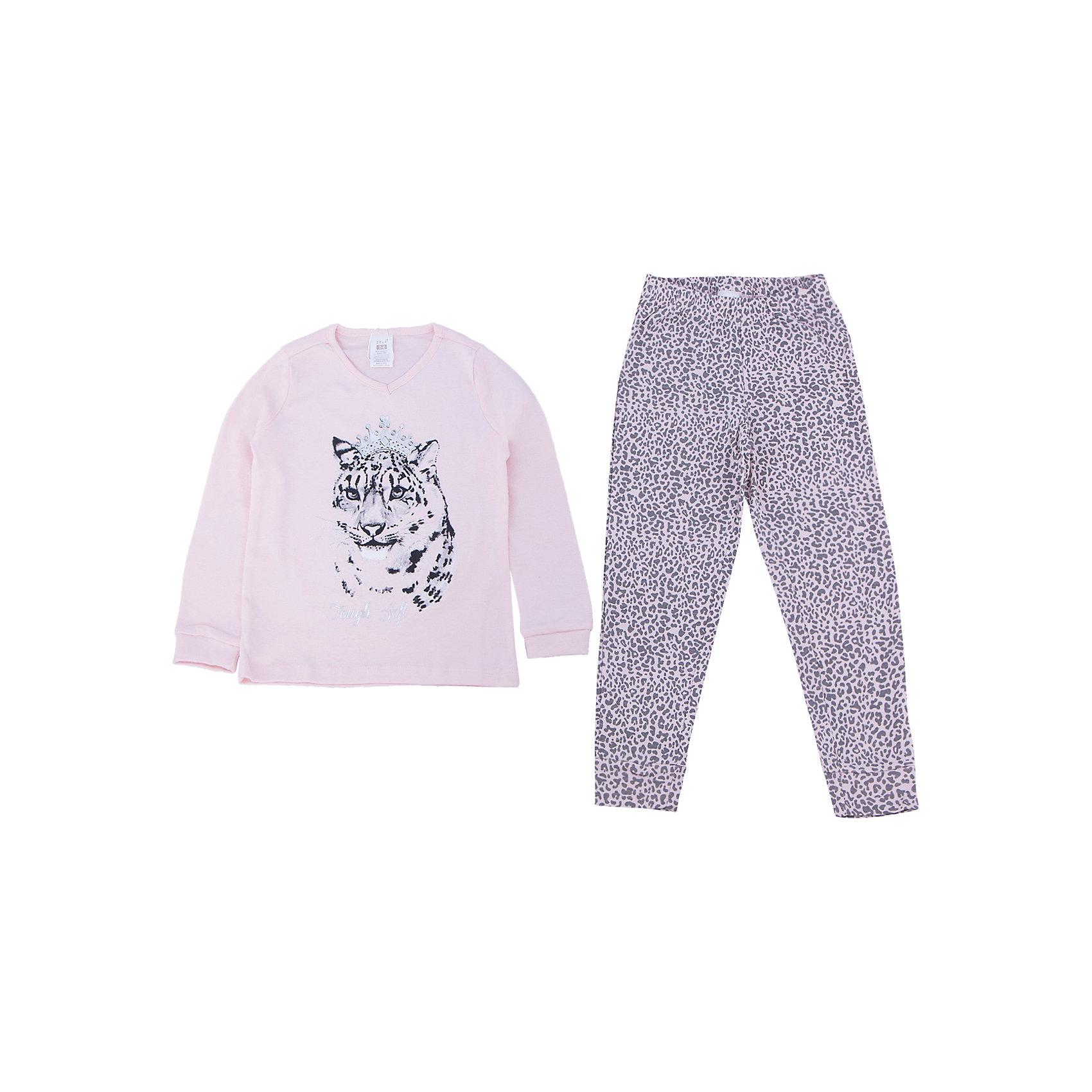 Пижама для девочки SELAУдобная пижама - неотъемлемая составляющая комфортного сна ребенка. Эта модель отлично сидит на девочке, она сшита из приятного на ощупь материала, мягкая и дышащая. Натуральный хлопок в составе ткани не вызывает аллергии и обеспечивает ребенку комфорт. В наборе - футболка с длинным рукавом и штаны, вещи украшены симпатичным принтом.<br>Одежда от бренда Sela (Села) - это качество по приемлемым ценам. Многие российские родители уже оценили преимущества продукции этой компании и всё чаще приобретают одежду и аксессуары Sela.<br><br>Дополнительная информация:<br><br>цвет: разноцветный;<br>материал: 100% хлопок;<br>принт;<br>трикотаж.<br><br>Пижаму для девочки от бренда Sela можно купить в нашем интернет-магазине.<br><br>Ширина мм: 281<br>Глубина мм: 70<br>Высота мм: 188<br>Вес г: 295<br>Цвет: розовый<br>Возраст от месяцев: 24<br>Возраст до месяцев: 36<br>Пол: Женский<br>Возраст: Детский<br>Размер: 92/98,140/146,128/134,116/122,104/110<br>SKU: 4919386