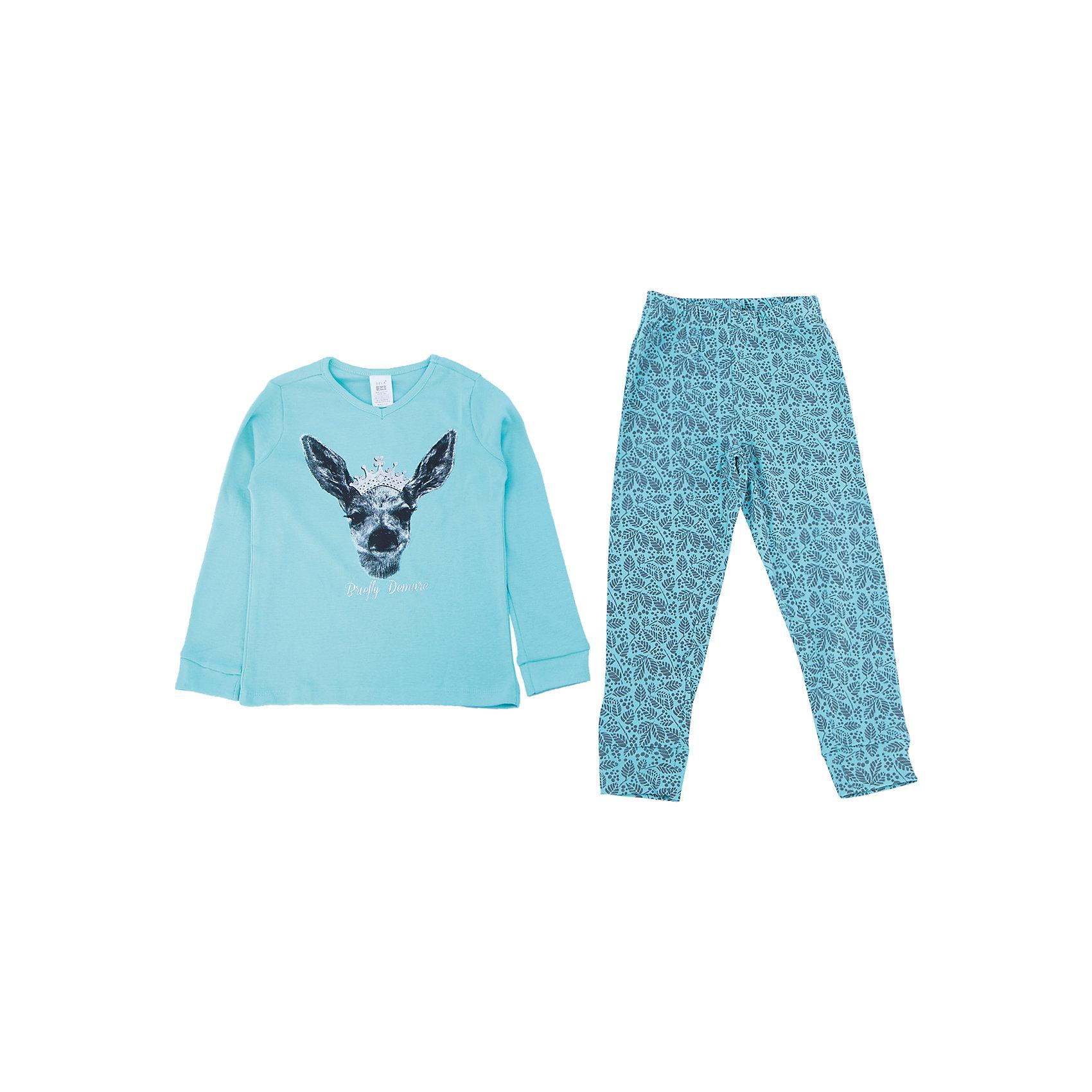 Пижама для девочки SELAУдобная пижама - неотъемлемая составляющая комфортного сна ребенка. Эта модель отлично сидит на девочке, она сшита из приятного на ощупь материала, мягкая и дышащая. Натуральный хлопок в составе ткани не вызывает аллергии и обеспечивает ребенку комфорт. В наборе - футболка с длинным рукавом и штаны, вещи украшены симпатичным принтом.<br>Одежда от бренда Sela (Села) - это качество по приемлемым ценам. Многие российские родители уже оценили преимущества продукции этой компании и всё чаще приобретают одежду и аксессуары Sela.<br><br>Дополнительная информация:<br><br>цвет: разноцветный;<br>материал: 100% хлопок;<br>принт;<br>трикотаж.<br><br>Пижаму для девочки от бренда Sela можно купить в нашем интернет-магазине.<br><br>Ширина мм: 281<br>Глубина мм: 70<br>Высота мм: 188<br>Вес г: 295<br>Цвет: голубой<br>Возраст от месяцев: 24<br>Возраст до месяцев: 36<br>Пол: Женский<br>Возраст: Детский<br>Размер: 92/98,140/146,104/110,116/122,128/134<br>SKU: 4919392