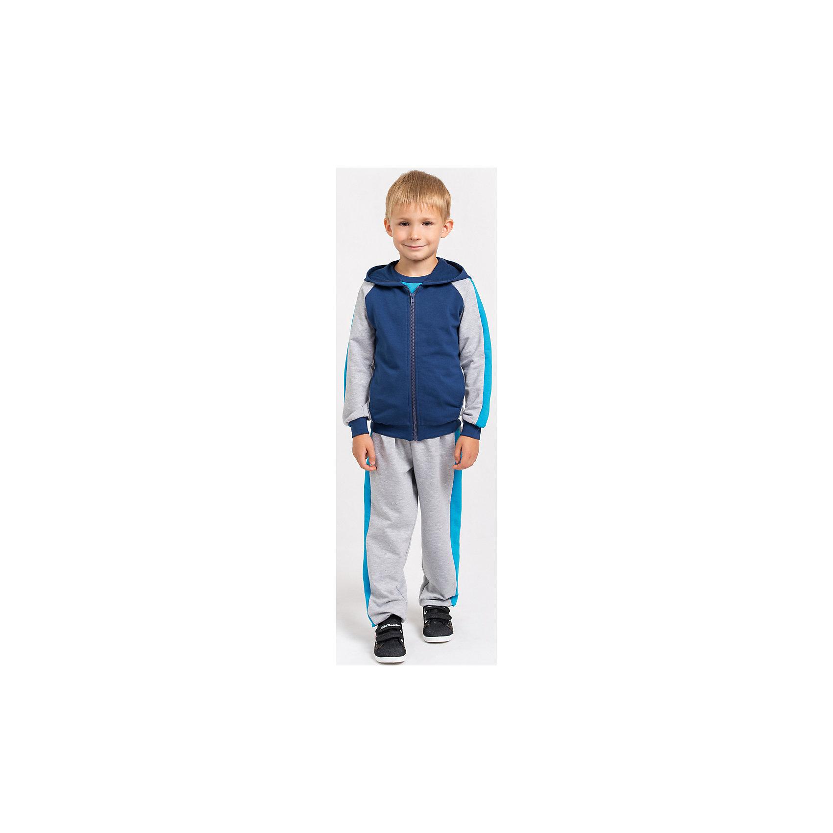 Goldy Спортивный костюм для мальчика goldy белый с голубыми манжетами