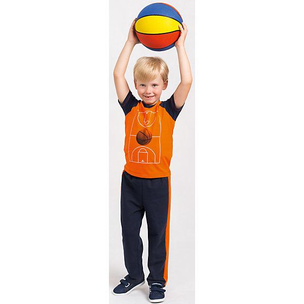 Футболка  для мальчика GoldyФутболки, поло и топы<br>Футболка для мальчика от белорусской марки Goldy.<br>Состав:<br>супрем компакт пенье (96% хлопок , 4% лайкра)<br>Ширина мм: 199; Глубина мм: 10; Высота мм: 161; Вес г: 151; Цвет: синий/оранжевый; Возраст от месяцев: 24; Возраст до месяцев: 36; Пол: Мужской; Возраст: Детский; Размер: 98,104,128,122,116,110; SKU: 4921188;