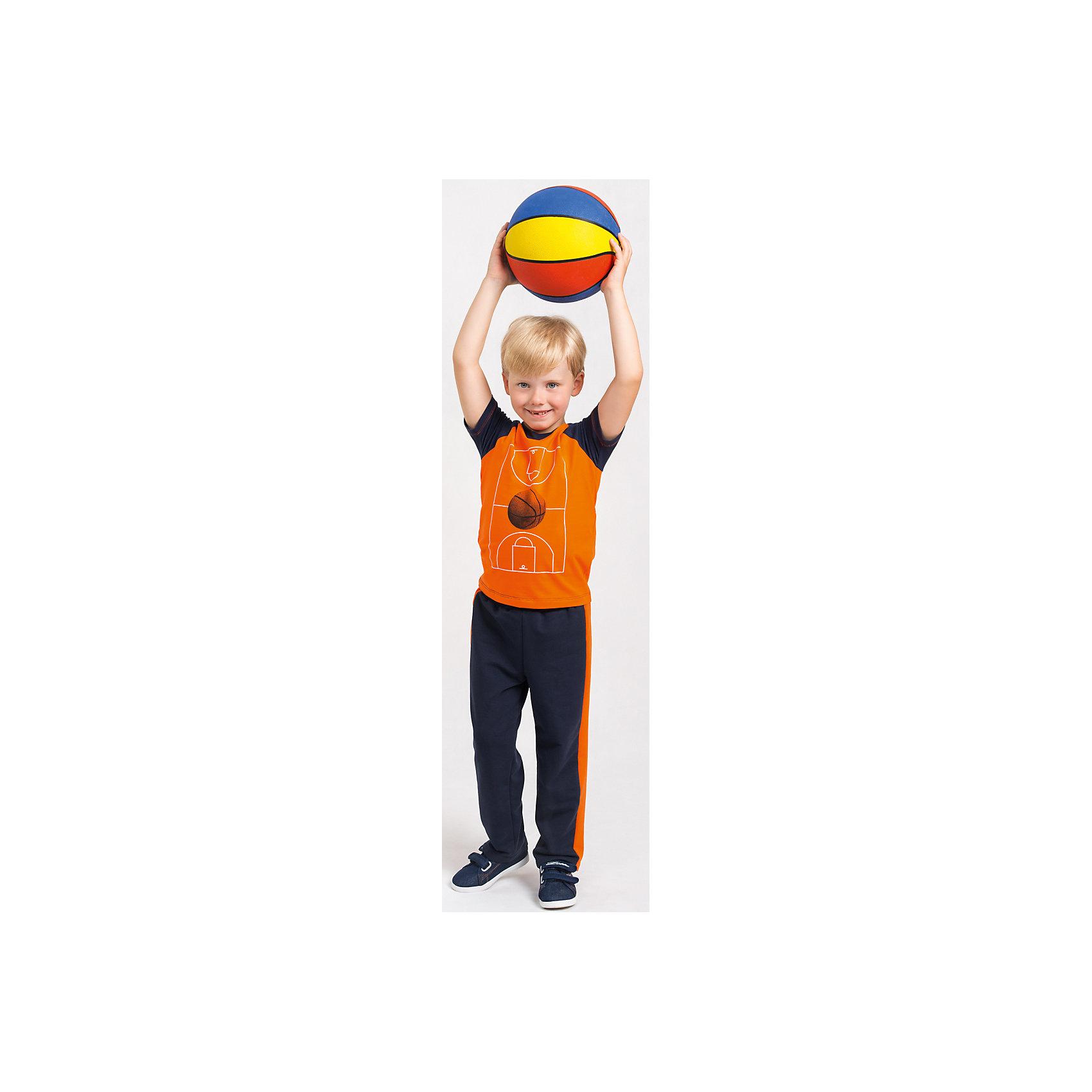 Футболка  для мальчика GoldyФутболки, поло и топы<br>Футболка для мальчика от белорусской марки Goldy.<br>Состав:<br>супрем компакт пенье (96% хлопок , 4% лайкра)<br><br>Ширина мм: 199<br>Глубина мм: 10<br>Высота мм: 161<br>Вес г: 151<br>Цвет: синий/оранжевый<br>Возраст от месяцев: 72<br>Возраст до месяцев: 84<br>Пол: Мужской<br>Возраст: Детский<br>Размер: 122,98,104,110,116,128<br>SKU: 4921188