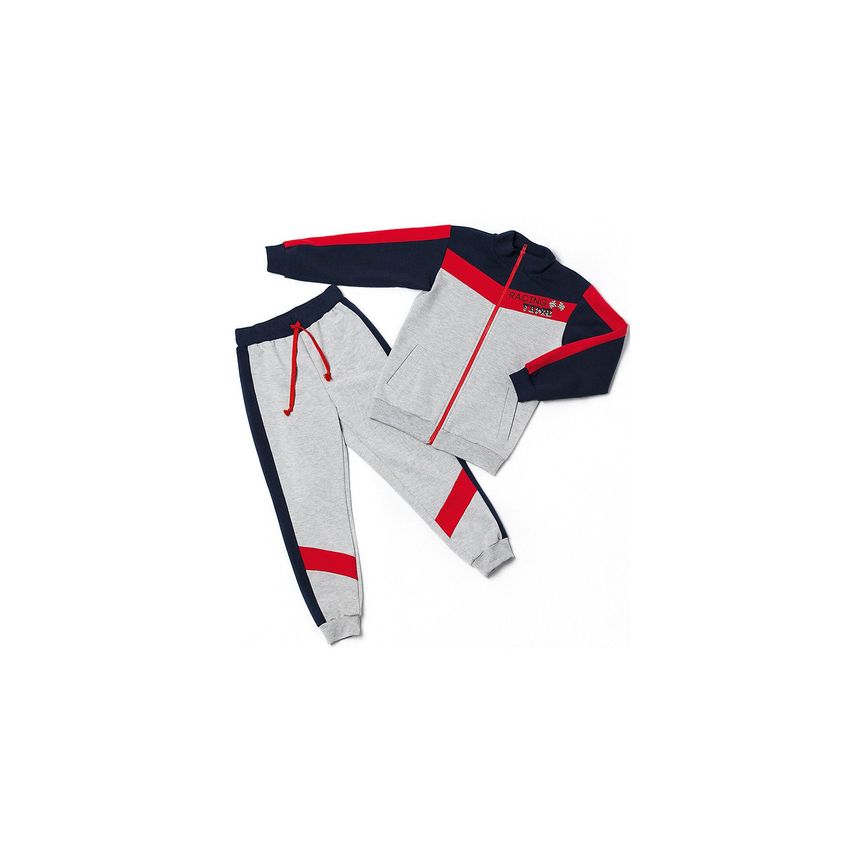 Спортивный костюм для мальчикаСпортивный костюм для мальчика от белорусской марки Goldy. Костюм состоит из толстовки и брюк с манжетами.<br>Состав:<br>футер компакт пенье (70% хлопок, 26% ПЭ, 4% лайкра)<br><br>Ширина мм: 247<br>Глубина мм: 16<br>Высота мм: 140<br>Вес г: 225<br>Цвет: разноцветный<br>Возраст от месяцев: 24<br>Возраст до месяцев: 36<br>Пол: Мужской<br>Возраст: Детский<br>Размер: 98,104,128,122,116,110<br>SKU: 4921195