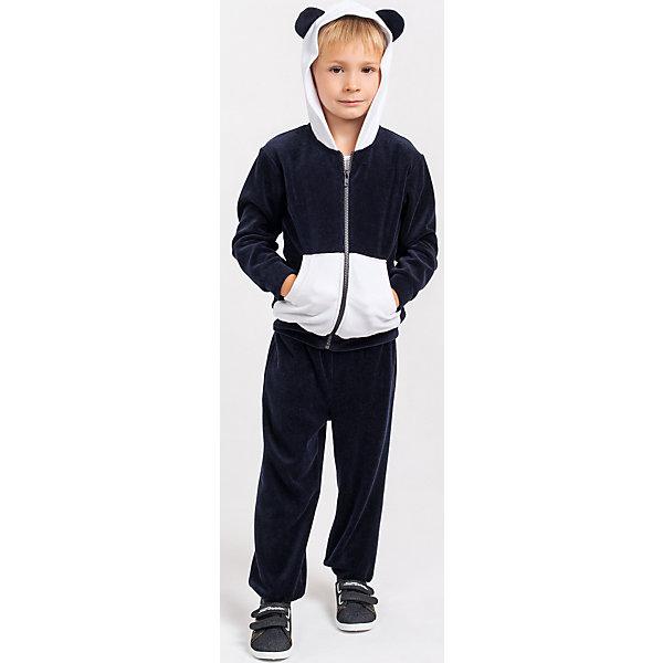 Спортивный костюм для мальчика Goldy GoldyКомплекты<br>Спортивный костюм для мальчика от белорусской марки Goldy. <br>Костюм состоит из толстовки и брюк с манжетами.<br>Состав:<br>велюр (80% хлопок, 20% пэ)<br><br>Ширина мм: 247<br>Глубина мм: 16<br>Высота мм: 140<br>Вес г: 225<br>Цвет: черный/белый<br>Возраст от месяцев: 12<br>Возраст до месяцев: 18<br>Пол: Мужской<br>Возраст: Детский<br>Размер: 92,110,104,98,86<br>SKU: 4921202