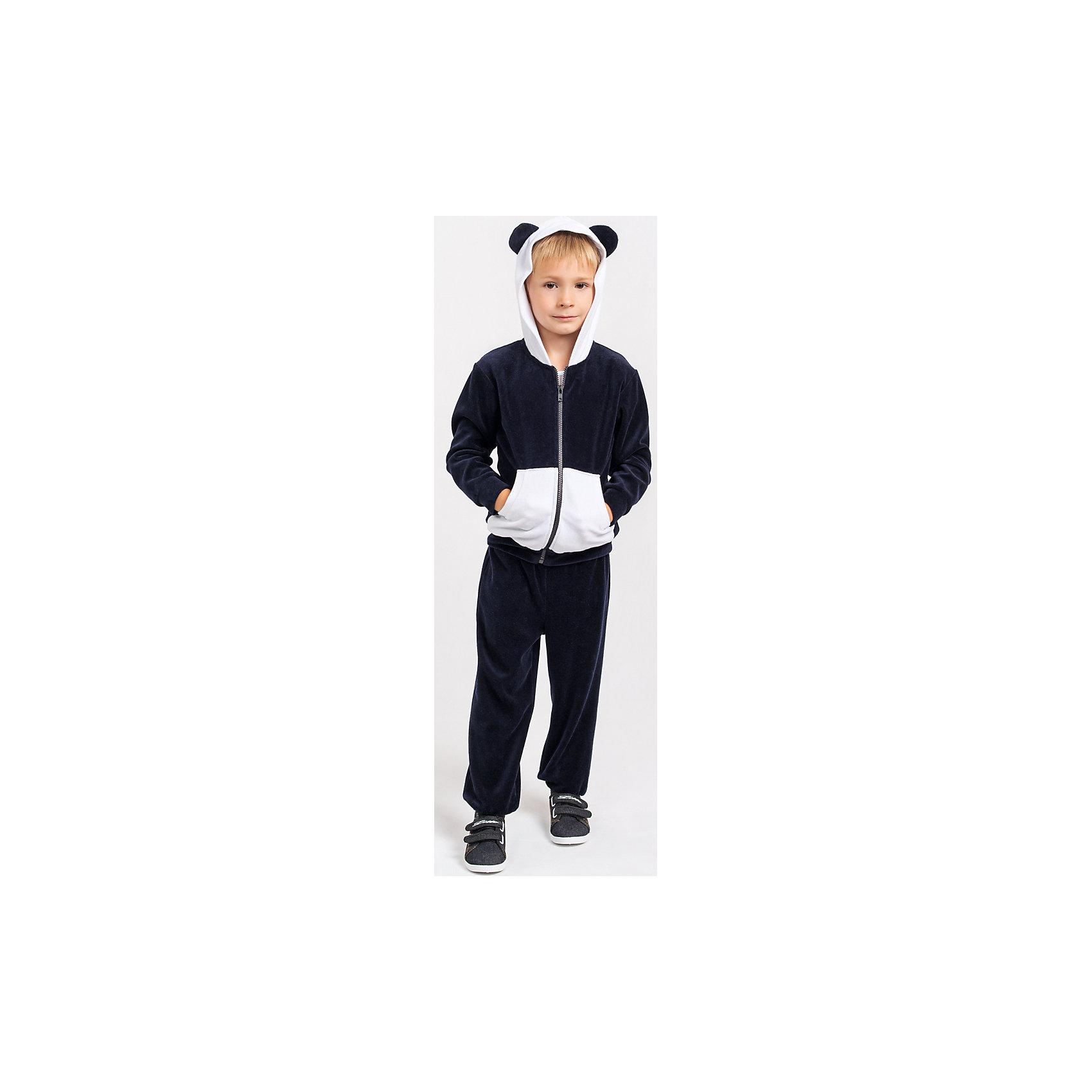 Спортивный костюм для мальчика Goldy GoldyКомплекты<br>Спортивный костюм для мальчика от белорусской марки Goldy. <br>Костюм состоит из толстовки и брюк с манжетами.<br>Состав:<br>велюр (80% хлопок, 20% пэ)<br><br>Ширина мм: 247<br>Глубина мм: 16<br>Высота мм: 140<br>Вес г: 225<br>Цвет: черно-белый<br>Возраст от месяцев: 12<br>Возраст до месяцев: 18<br>Пол: Мужской<br>Возраст: Детский<br>Размер: 86,98,104,110,92<br>SKU: 4921202