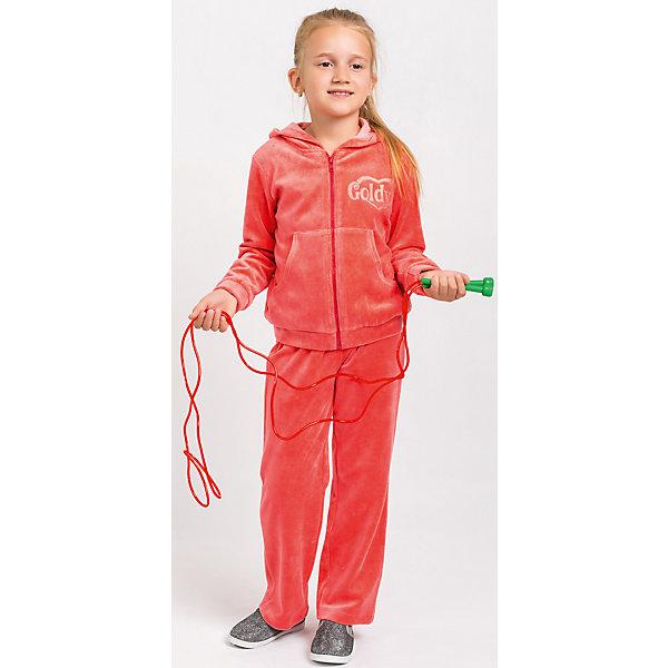 Спортивный костюм для девочки GoldyСпортивная одежда<br>Спортивный костюм для девочки от белорусской марки Goldy. Костюм состоит из толстовки на молнии с капюшоном и брюк прямого кроя. Велюр.<br>Состав:<br>велюр (80% хлопок, 20% пэ)<br><br>Ширина мм: 247<br>Глубина мм: 16<br>Высота мм: 140<br>Вес г: 225<br>Цвет: красный<br>Возраст от месяцев: 24<br>Возраст до месяцев: 36<br>Пол: Женский<br>Возраст: Детский<br>Размер: 98,104,110,116,122,128<br>SKU: 4921208