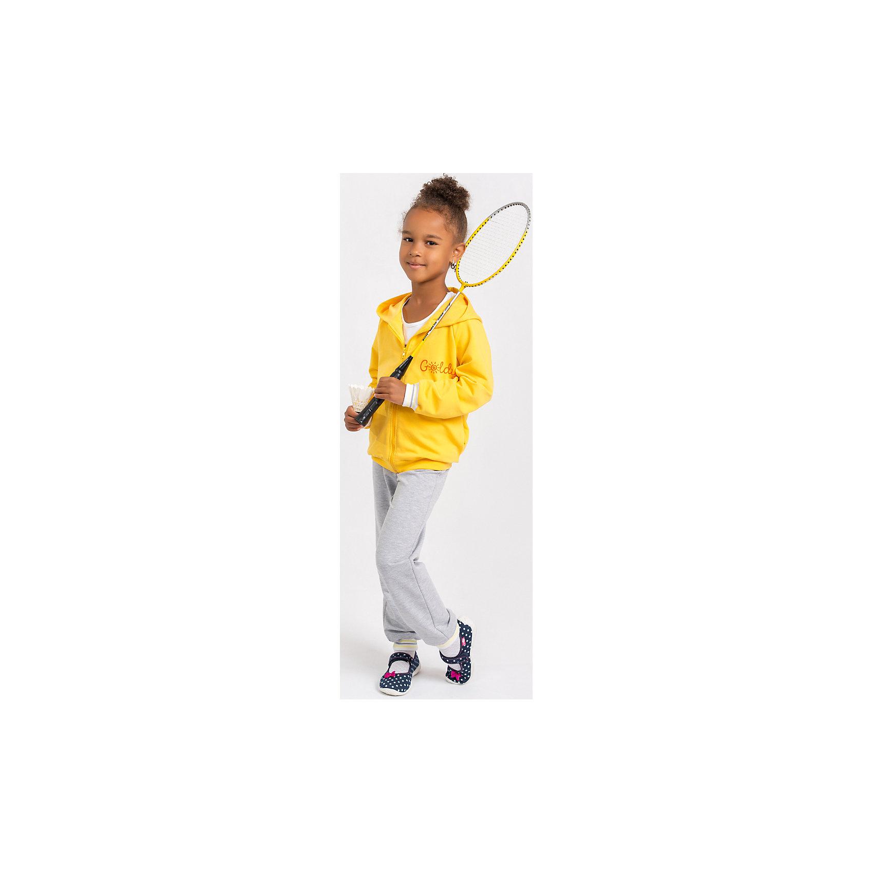 Спортивный костюм для девочки GoldyКомплекты<br>Спортивный костюм для девочки от белорусской марки Goldy. Костюм состоит из толстовки с капюшоном и брюк с манжетами.<br>Состав:<br>футер компакт пенье (70% хлопок, 26% ПЭ, 4% лайкра)<br><br>Ширина мм: 247<br>Глубина мм: 16<br>Высота мм: 140<br>Вес г: 225<br>Цвет: серый/желтый<br>Возраст от месяцев: 24<br>Возраст до месяцев: 36<br>Пол: Женский<br>Возраст: Детский<br>Размер: 122,92,110,116,98,104<br>SKU: 4921215