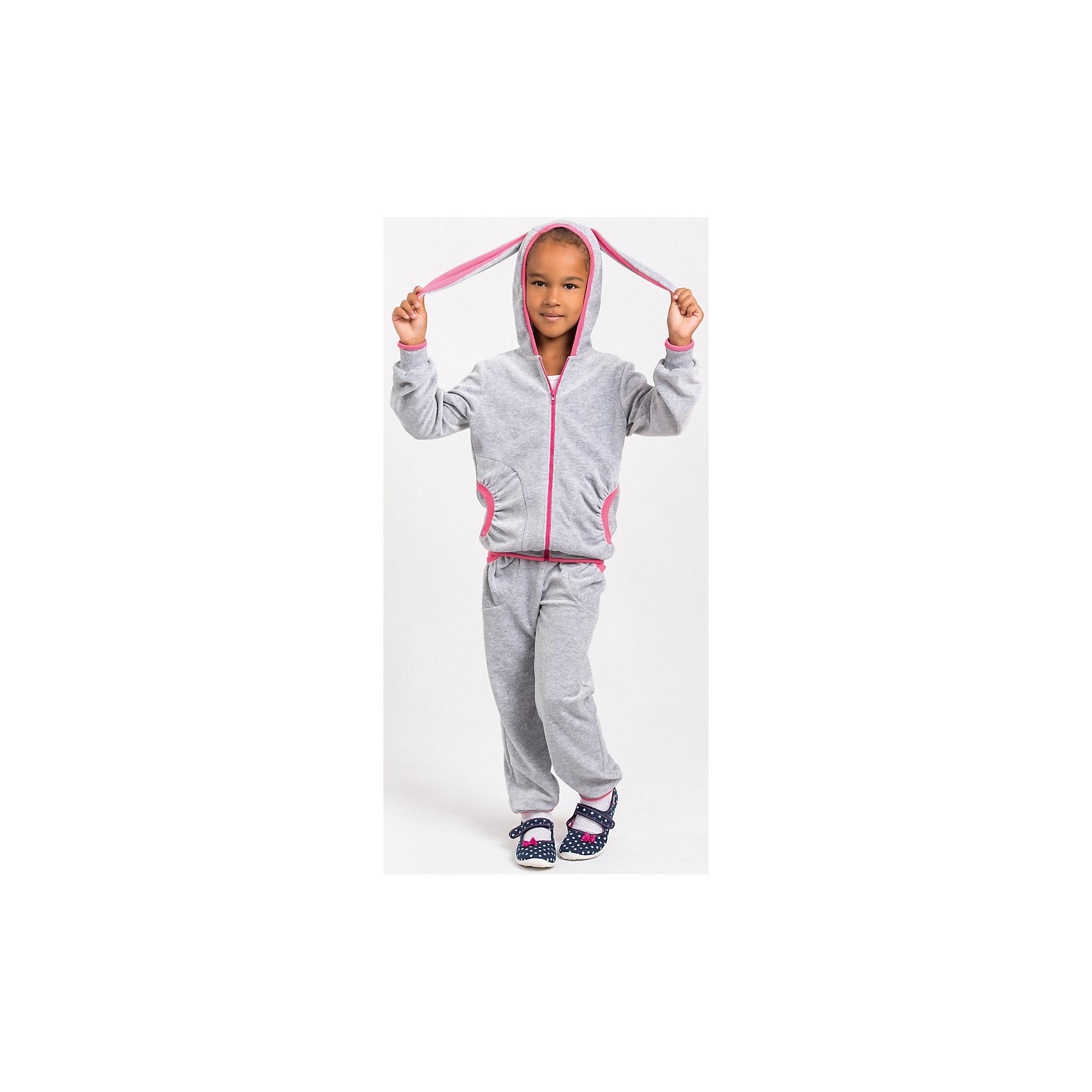Спортивный костюм для девочкиСпортивный костюм для девочки от белорусской марки Goldy. Костюм состоит из толстовки с капюшоном и брюк с манжетами. Велюр.<br>Состав:<br>велюр (80% хлопок, 20% пэ)<br><br>Ширина мм: 247<br>Глубина мм: 16<br>Высота мм: 140<br>Вес г: 225<br>Цвет: серый<br>Возраст от месяцев: 24<br>Возраст до месяцев: 36<br>Пол: Женский<br>Возраст: Детский<br>Размер: 110,116,122,98,104,92<br>SKU: 4921271