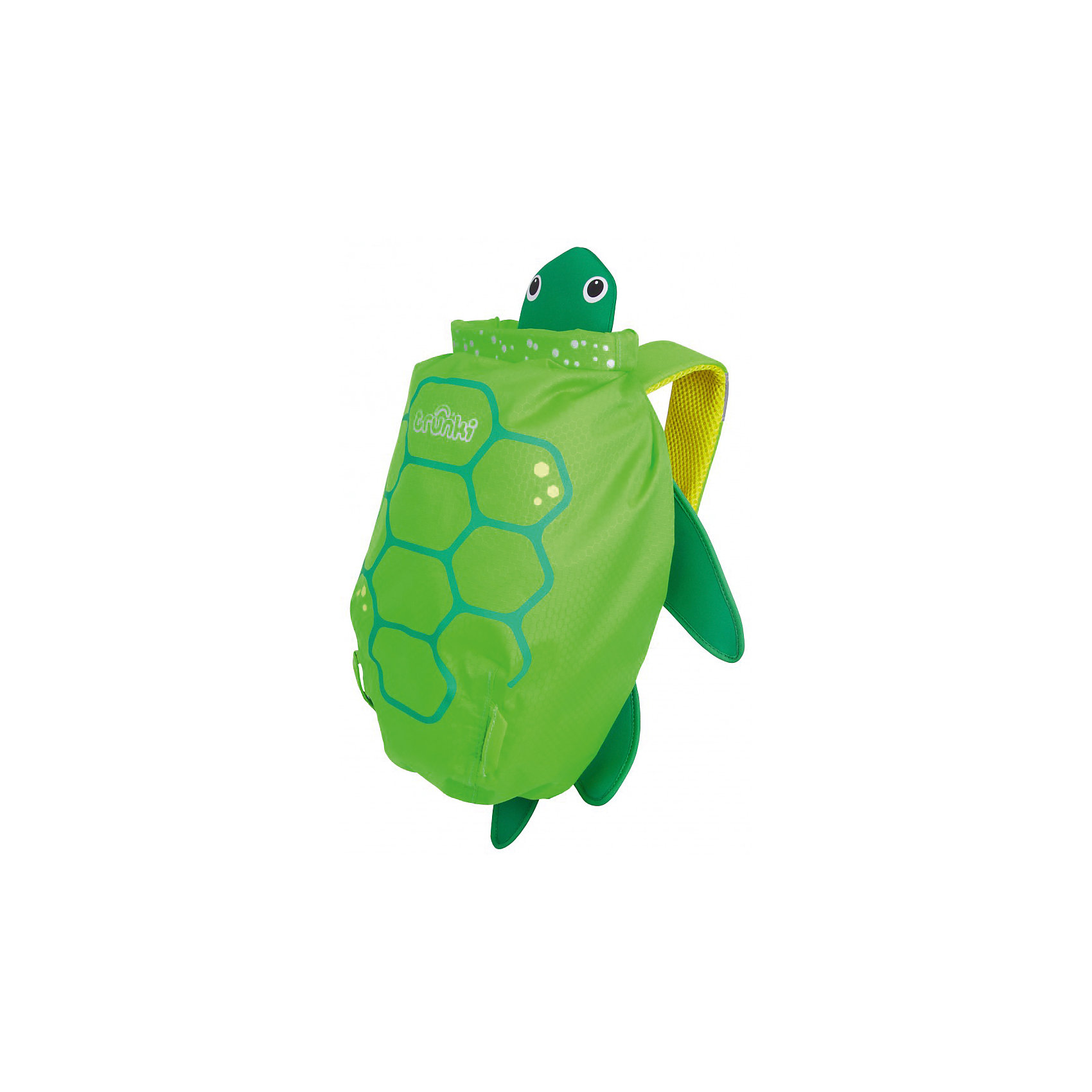 Рюкзак для бассейна и пляжа ЧерепахаОчки, маски, ласты, шапочки<br>Рюкзак для бассейна и пляжа Черепаха – это верный спутник вашего ребенка в бассейне или на пляже.<br>Яркий водонепроницаемый рюкзак для бассейна и пляжа выполнен в виде зеленой черепахи с лапками, головой и панцирем. Благодаря размеру он идеально подходит для раздевалок в бассейне или в школе. Спинка рюкзака выполнена из сетчатой дышащей ткани air mesh, поэтому даже самые жаркие летние дни спина ребенка не будет потеть. Широкие плечевые лямки регулируются по длине. На одной из лямок рюкзака находится специальное силиконовое крепление с отверстием для солнечных очков. Рюкзак изготовлен из легкого прочного водоотталкивающего материала, который легко поддается чистке и стирке. Внутри рюкзака одно вместительное отделение, изготовленное из такой же водонепроницаемой ткани, что и сам рюкзак. Все швы и соединительные элементы проклеены, для надежности и защиты от протекания. Имеется место для контактной информации маленького владельца. Уникальное крепление-застежка top roll защитит содержимое рюкзака от воды. Три оборота, и горловина рюкзака плотно закрыта и зафиксирована! Для ценных вещей имеется дополнительный потайной водонепроницаемый кармашек. По всей площади рюкзака предусмотрены светоотражающие элементы, отвечающие за безопасность ребенка в темное время суток.<br><br>Дополнительная информация:<br><br>- Возраст: от 3 лет<br>- Для мальчиков и девочек<br>- Цвет: зеленый.<br>- Материал: текстиль, пластик.<br>- Размер рюкзака: 49 х 41 х 10 см.<br>- Вес: 180 гр.<br><br>Рюкзак для бассейна и пляжа Черепаха можно купить в нашем интернет-магазине.<br><br>Ширина мм: 370<br>Глубина мм: 290<br>Высота мм: 170<br>Вес г: 170<br>Возраст от месяцев: 24<br>Возраст до месяцев: 168<br>Пол: Унисекс<br>Возраст: Детский<br>SKU: 4921555