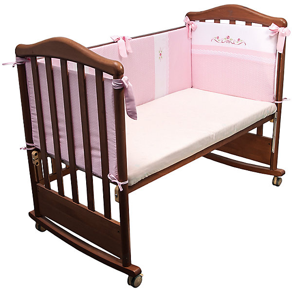 Борт в кроватку Прованс, Сонный гномик, розовыйПостельное белье в кроватку новорождённого<br>Характеристики:<br><br>• Вид детского текстиля: бортики для кроватки<br>• Пол: для девочки<br>• Серия: Прованс<br>• Тематика рисунка: цветы <br>• Сезон: круглый год<br>• Материал: сатин, хлопок 100%<br>• Наполнитель: холлофайбер Хард<br>• Цвет: розовый, белый, зеленый<br>• Размеры: 360*42 см<br>• Съемные чехлы на молнии<br>• Способ крепления к кроватке: завязки<br>• Упаковка: полиэтилен <br>• Вес в упаковке: 1 кг 010 г<br>• Особенности ухода: машинная стирка при температуре 30 градусов<br><br>Борт Прованс Сонный гномик, розовый от отечественного торгового бренда выполнен с учетом международных требований к качеству и безопасности товаров для детей. Комплект предназначен для детских кроваток, спальное место которых составляет не менее 120*60 см. Бортики состоят их четырех частей, выполнены из 100% хлопка с повышенными качественными характеристиками: гигроскопичные, гипоаллергенные, устойчивые к изменению цвета и формы, а также к изминанию, что наиболее важно для детского постельного белья. Все части выполнены из цельного полотна, боковые швы – закрытые, что обеспечивает их прочность и надежность. Для удобства ухода за изделием, предусмотрены съемные чехлы. Бортики декорированы горизонтальными и вертикальными полосами с цветочным орнаментом. <br>Борт Прованс Сонный гномик, розовый обеспечит безопасность и комфорт для крепкого детского сна! <br><br>Борт Прованс Сонный гномик, розовый можно купить в нашем интернет-магазине.<br>Ширина мм: 3600; Глубина мм: 20; Высота мм: 420; Вес г: 1010; Возраст от месяцев: 0; Возраст до месяцев: 48; Пол: Женский; Возраст: Детский; SKU: 4922728;