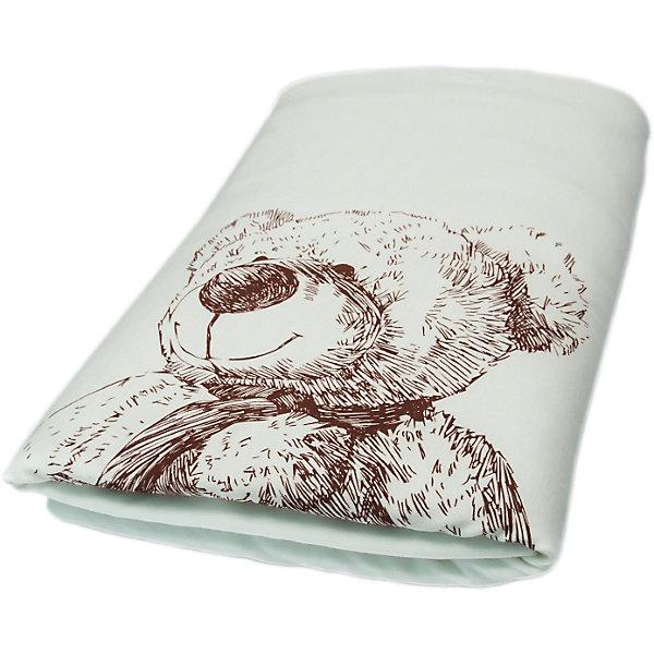 Плед Медвежата, Сонный гномик, молочный