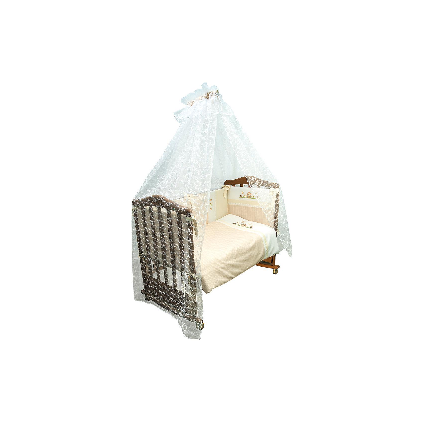 Постельное белье Кантри 7 пред, Сонный гномик, бежевыйПостельное бельё<br>Постельное белье Кантри 7 предм., Сонный гномик, бежевый состоит из постельных принадлежностей, необходимых для детской кроватки: одеяло, подушка, простынь, пододеяльник, наволочка, бортики и балдахин. Комплект подходит для кроваток любого типа стандартного размера 120*60 см. Все изделия комплекта выполнены из сатина высокого качества, который обладает устойчивостью к деформации и изменению цвета, даже при частых стирках не образуются потертости и катышки. В одеяле и подушке в качестве наполнителя использован холлофайбер, который обладает высокой воздухопроницаемостью, водоотталкивающими и гипоаллергенными свойствами. Бортик для кроватки состоит из четырех частей, которые крепятся за счет завязок. Комплект выполнен в нежном бежевом цвете, украшен стилизованным под вышивку крестиком принтом селького домика.   <br>Постельное белье Кантри 7 предм., Сонный гномик, бежевый обеспечит ребенку крепкий, здоровый и безопасный сон. <br><br>Дополнительная информация:<br><br>- Предназначение: для детской кроватки<br>- Комплектация: одеяло и пододеяльник (110*140 см), подушка и наволочка (40*60 см), простынь (100*140 см), бортики из четырех частей, балдахин (4 м)<br>- Материал: сатин, полиэстер (балдахин)<br>- Наполнитель: холлофайбер<br>- Пол: для мальчика/для девочки<br>- Цвет: бежевый, белый<br>- Размеры упаковки (Д*Ш*В): 65*20*50 см<br>- Вес: 3 кг 500 г<br>- Особенности ухода: разрешается стирка при температуре не более 40 градусов<br><br>Подробнее:<br><br>• Для детей в возрасте от 0 месяцев и до 4 лет<br>• Страна производитель: Россия<br>• Торговый бренд: Leader kids<br><br>Постельное белье Кантри 7 предм., Сонный гномик, бежевый можно купить в нашем интернет-магазине.<br><br>Ширина мм: 650<br>Глубина мм: 200<br>Высота мм: 500<br>Вес г: 3500<br>Возраст от месяцев: 0<br>Возраст до месяцев: 48<br>Пол: Мужской<br>Возраст: Детский<br>SKU: 4922755