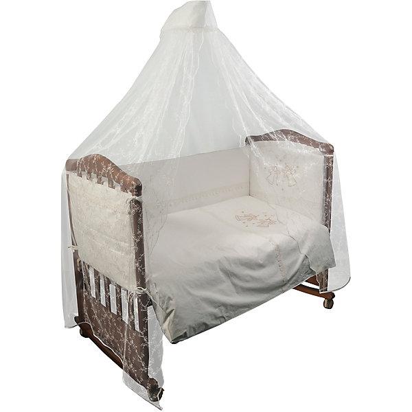 Постельное белье Эльфы 7 пред, Сонный гномик, молочныйПостельное белье в кроватку новорождённого<br>Постельное белье Эльфы 7 предм., Сонный гномик, молочный состоит из постельных принадлежностей, необходимых для детской кроватки: одеяло, подушка, простынь, пододеяльник, наволочка, бортики и балдахин. Комплект подходит для кроваток любого типа стандартного размера 120*60 см. Все изделия комплекта выполнены из сатина высокого качества, который обладает устойчивостью к деформации и изменению цвета, даже при частых стирках не образуются потертости и катышки. В одеяле и подушке в качестве наполнителя использован холлофайбер, который обладает высокой воздухопроницаемостью, водоотталкивающими и гипоаллергенными свойствами. Бортик для кроватки состоит из четырех частей, которые крепятся за счет завязок. Комплект выполнен в молочном цвете, украшен вышивкой  и кружевом.   <br>Постельное белье Эльфы 7 предм., Сонный гномик, молочный обеспечит ребенку крепкий, здоровый и безопасный сон. <br><br>Дополнительная информация:<br><br>- Предназначение: для детской кроватки<br>- Комплектация: одеяло и пододеяльник (110*140 см), подушка и наволочка (40*60 см), простынь (100*140 см), бортики из четырех частей, балдахин (4 м)<br>- Материал: сатин, полиэстер (балдахин)<br>- Наполнитель: холлофайбер<br>- Пол: для мальчика/для девочки<br>- Цвет: молочный, бежевый<br>- Размеры упаковки (Д*Ш*В): 65*20*50 см<br>- Вес: 3 кг 750 г<br>- Особенности ухода: разрешается стирка при температуре не более 40 градусов<br><br>Подробнее:<br><br>• Для детей в возрасте от 0 месяцев и до 4 лет<br>• Страна производитель: Россия<br>• Торговый бренд: Leader kids<br><br>Постельное белье Эльфы 7 предм., Сонный гномик, молочный можно купить в нашем интернет-магазине.<br><br>Ширина мм: 650<br>Глубина мм: 200<br>Высота мм: 500<br>Вес г: 3750<br>Возраст от месяцев: 0<br>Возраст до месяцев: 48<br>Пол: Унисекс<br>Возраст: Детский<br>SKU: 4922758