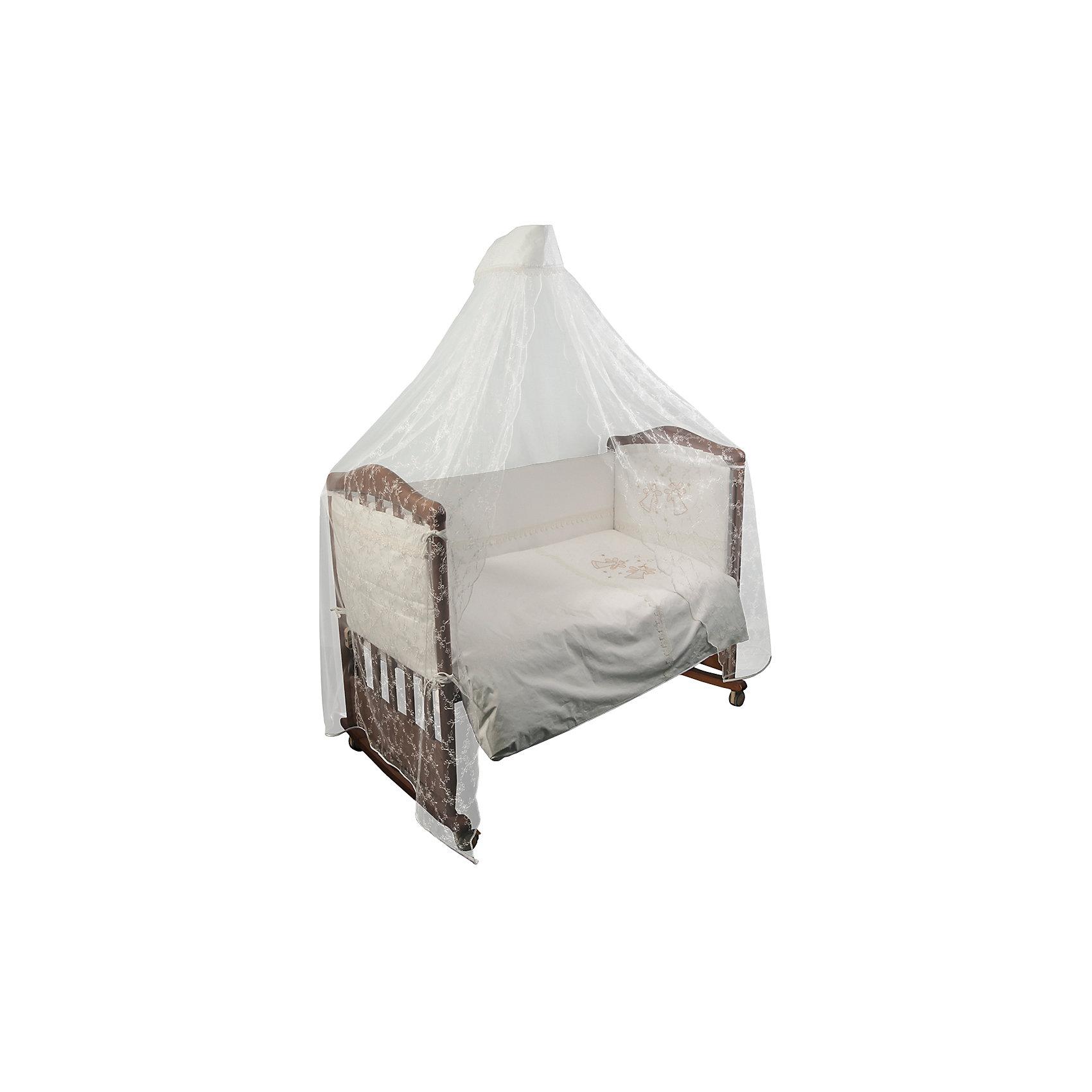Постельное белье Эльфы 7 пред, Сонный гномик, молочныйПостельное бельё<br>Постельное белье Эльфы 7 предм., Сонный гномик, молочный состоит из постельных принадлежностей, необходимых для детской кроватки: одеяло, подушка, простынь, пододеяльник, наволочка, бортики и балдахин. Комплект подходит для кроваток любого типа стандартного размера 120*60 см. Все изделия комплекта выполнены из сатина высокого качества, который обладает устойчивостью к деформации и изменению цвета, даже при частых стирках не образуются потертости и катышки. В одеяле и подушке в качестве наполнителя использован холлофайбер, который обладает высокой воздухопроницаемостью, водоотталкивающими и гипоаллергенными свойствами. Бортик для кроватки состоит из четырех частей, которые крепятся за счет завязок. Комплект выполнен в молочном цвете, украшен вышивкой  и кружевом.   <br>Постельное белье Эльфы 7 предм., Сонный гномик, молочный обеспечит ребенку крепкий, здоровый и безопасный сон. <br><br>Дополнительная информация:<br><br>- Предназначение: для детской кроватки<br>- Комплектация: одеяло и пододеяльник (110*140 см), подушка и наволочка (40*60 см), простынь (100*140 см), бортики из четырех частей, балдахин (4 м)<br>- Материал: сатин, полиэстер (балдахин)<br>- Наполнитель: холлофайбер<br>- Пол: для мальчика/для девочки<br>- Цвет: молочный, бежевый<br>- Размеры упаковки (Д*Ш*В): 65*20*50 см<br>- Вес: 3 кг 750 г<br>- Особенности ухода: разрешается стирка при температуре не более 40 градусов<br><br>Подробнее:<br><br>• Для детей в возрасте от 0 месяцев и до 4 лет<br>• Страна производитель: Россия<br>• Торговый бренд: Leader kids<br><br>Постельное белье Эльфы 7 предм., Сонный гномик, молочный можно купить в нашем интернет-магазине.<br><br>Ширина мм: 650<br>Глубина мм: 200<br>Высота мм: 500<br>Вес г: 3750<br>Возраст от месяцев: 0<br>Возраст до месяцев: 48<br>Пол: Унисекс<br>Возраст: Детский<br>SKU: 4922758
