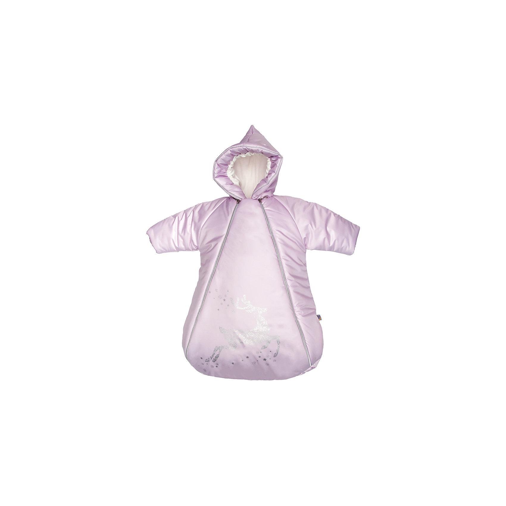 Конверт с ручками Созвездие, Сонный гномик, розовыйЗимние конверты<br>Характеристики:<br><br>• Вид детского текстиля: конверт<br>• Предназначение: для прогулки, для выписки<br>• Сезон: зима<br>• Форма конверта: кокон<br>• Утеплитель: шелтер кидс, 200 г/кв.м<br>• Степень утепления: высокая<br>• Температурный режим: от -5? С до -20? С<br>• Пол: для девочики<br>• Тематика рисунка: олень<br>• Материал: дюспо (100% полиэстер); натуральная овечья шерсть<br>• Цвет: розовый, серебристый<br>• Размеры: 45*80 см<br>• По бокам имеются застежки-молнии<br>• Вес в упаковке: 830 г<br>• Особенности ухода: допускается щадящая химчистка или деликатная стирка <br><br>Конверт с ручками Созвездие, Сонный гномик, розовый от отечественного торгового бренда изготовлен с учетом международных требований к качеству и безопасности товаров для детей. Конверт предназначен для прогулок в холодное время года. Выполнен в форме кокона с ручками и капюшоном. Верх изделия выполнен из особо прочного материала – дюспо, который отличается повышенными водоотталкивающими и непродуваемыми свойствами. Высокую степень утепления конверта обеспечивает гипоаллергенный шелтер и натуральная овечья шерсть. Для удобства одевания на передней полочке предусмотрены две косые застежки-молнии. Внутренняя часть капюшона и манжеты на рукавах выполнены из флиса. У горловины предусмотрен дополнительный защитный от продувания и холода клапан. Конверт декорирован серебристой окантовкой и принтом с изображением оленя. Конверт с ручками Созвездие, Сонный гномик, розовый обеспечит быстрое одевание и комфортные прогулки даже в самую холодную погоду!<br><br>Конверт с ручками Созвездие, Сонный гномик, розовый можно купить в нашем интернет-магазине.<br><br>Ширина мм: 660<br>Глубина мм: 90<br>Высота мм: 450<br>Вес г: 800<br>Возраст от месяцев: 0<br>Возраст до месяцев: 9<br>Пол: Женский<br>Возраст: Детский<br>SKU: 4922776