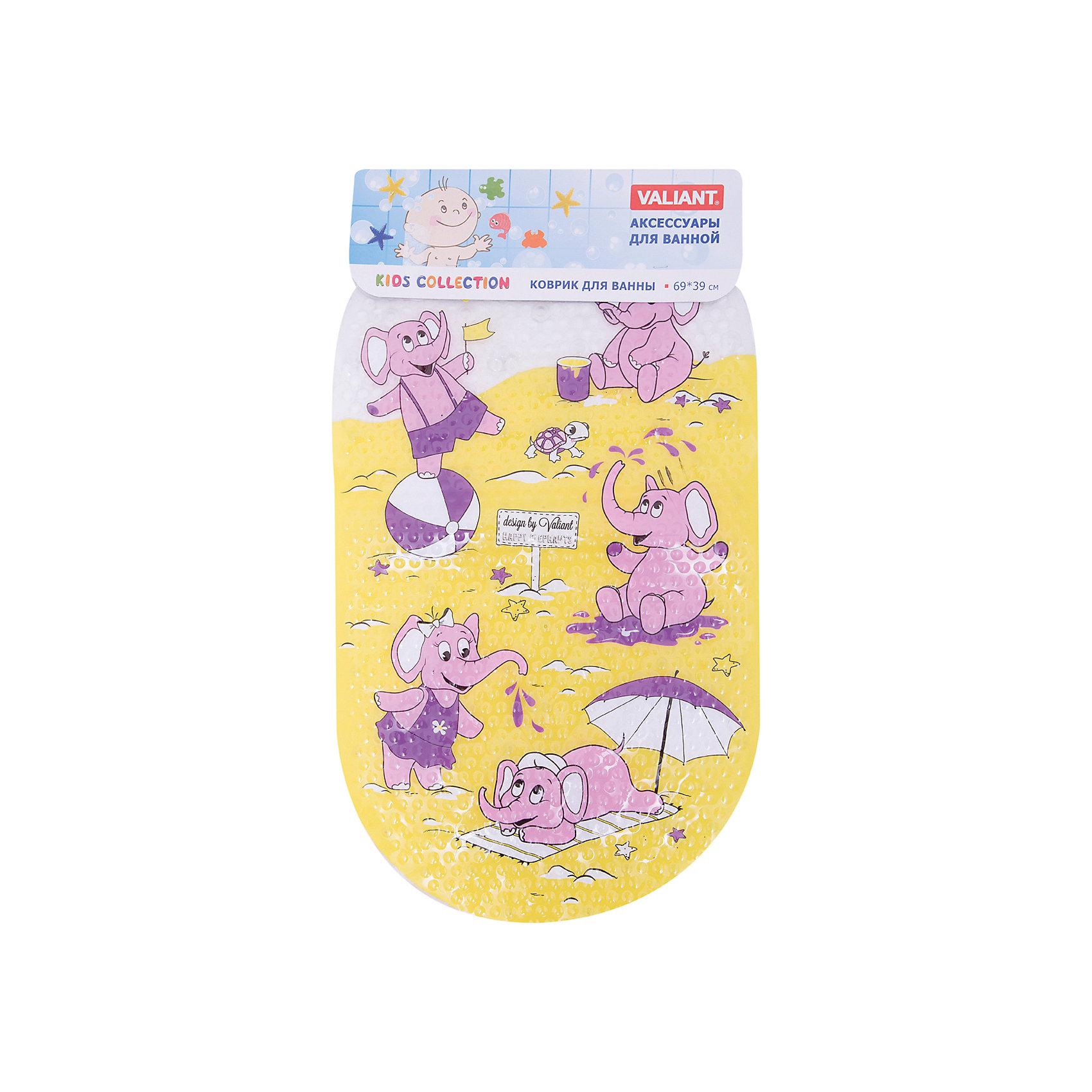 Коврик для ванны Слоники, 69*39смВанная комната<br>Коврик для ванны Слоники, 69*39см – безопасное купание для маленьких непосед.<br>Яркий дизайн порадует малыша, а специальное покрытие, не позволяющее упасть, сделает пребывание ребенка в ванной безопасным. Материал сделан с антибактериальным покрытием и не вреден даже для нежной кожи. Коврик отлично прилегает к поверхности ванны и крепится с помощью присосок, предотвращая скольжение, а рифленая поверхность обладает массажным эффектом. Вода не будет скапливаться сверху коврика благодаря перфорации на коврике. <br><br>Дополнительная информация:<br><br>- материал: антибактериальный поливинилхлорид<br>- размер: 69*39 см<br>- вес: 525 г<br><br>Коврик для ванны Слоники, 69*39см можно купить в нашем интернет магазине.<br><br>Ширина мм: 690<br>Глубина мм: 390<br>Высота мм: 10<br>Вес г: 181<br>Возраст от месяцев: 12<br>Возраст до месяцев: 144<br>Пол: Унисекс<br>Возраст: Детский<br>SKU: 4923426