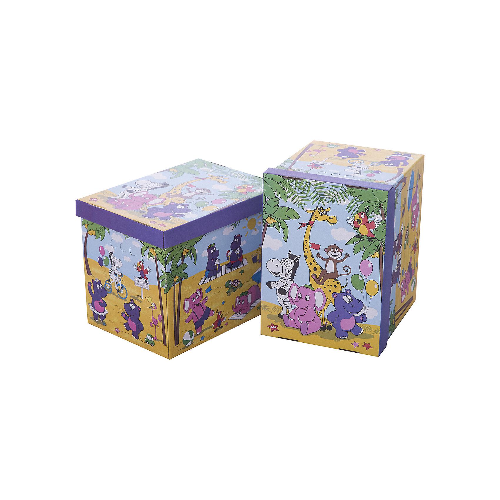 Короб картонный складной Веселая Африка, 2 шт, большойПорядок в детской<br>Короб картонный складной Веселая Африка, 2 шт, большой – яркое и красивое решение проблемы хранения вещей. <br>В комплект входят две большие коробки с ярким дизайном. Идеально вписываются в детскую благодаря красочным рисункам. Сделаны из экологичного материала, поэтому полностью безопасны для детей. Прочная конструкция легко собирается. Подходят для хранения книг, игрушек, одежды, обуви и других вещей. С двух сторон есть ручки для удобного переноса коробок. Крышка сверху прячет вещи от пыли и грязи. <br><br>Дополнительная информация: <br><br>- 2 штуки<br>- размер: 28х38х31.5 см<br>- материал: гофрокартон<br><br>Короб картонный складной Веселая Африка, 2 шт, большой можно купить в нашем интернет магазине.<br><br>Ширина мм: 280<br>Глубина мм: 380<br>Высота мм: 315<br>Вес г: 630<br>Возраст от месяцев: 36<br>Возраст до месяцев: 144<br>Пол: Унисекс<br>Возраст: Детский<br>SKU: 4923428
