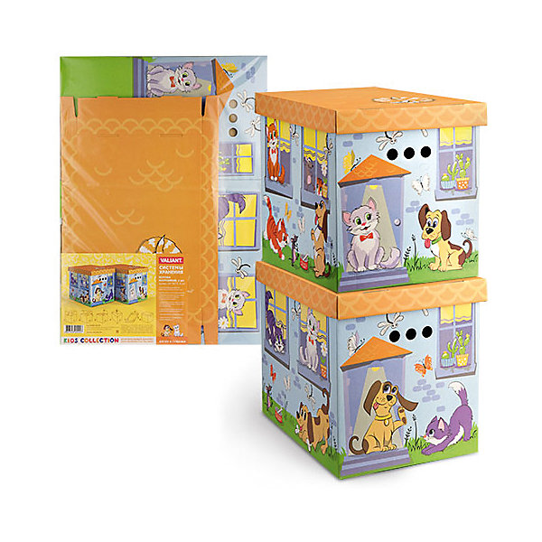 Короб картонный складной Киски-собачки, 2 шт, большойЯщики для игрушек<br>Короб картонный складной Киски-собачки, 2 шт, большой – яркое и красивое решение проблемы хранения вещей. <br>В комплект входят две большие коробки с ярким дизайном. Идеально вписываются в детскую благодаря красочным рисункам. Сделаны из экологичного материала, поэтому полностью безопасны для детей. Прочная конструкция легко собирается. Подходят для хранения книг, игрушек, одежды, обуви и других вещей. С двух сторон есть ручки для удобного переноса коробок. Крышка сверху прячет вещи от пыли и грязи. <br><br>Дополнительная информация: <br><br>- 2 штуки<br>- размер: 28х38х31.5 см<br>- материал: гофрокартон<br><br>Короб картонный складной Киски-собачки, 2 шт, большой можно купить в нашем интернет магазине.<br><br>Ширина мм: 280<br>Глубина мм: 380<br>Высота мм: 315<br>Вес г: 630<br>Возраст от месяцев: 36<br>Возраст до месяцев: 144<br>Пол: Унисекс<br>Возраст: Детский<br>SKU: 4923430