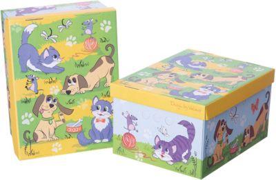 VALIANT Короб картонный складной Киски-собачки , 2 шт, малый