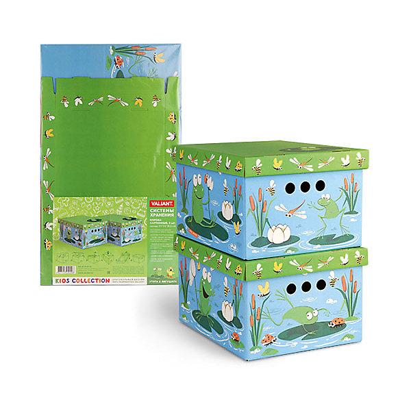 Короб картонный складной Утята-лягушата, 2 шт, малыйЯщики для игрушек<br>Короб картонный складной Утята-лягушата, 2 шт, малый – яркое и красивое решение проблемы хранения вещей. <br>В комплект входят две большие коробки с ярким дизайном. Идеально вписываются в детскую благодаря красочным рисункам. Сделаны из экологичного материала, поэтому полностью безопасны для детей. Прочная конструкция легко собирается. Подходят для хранения одежды, аксессуаров, игрушек и т.д. С двух сторон есть ручки для удобного переноса коробок. Крышка сверху прячет вещи от пыли и грязи. <br><br>Дополнительная информация: <br><br>- 2 штуки<br>- размер: 25х33х18.5 см<br>- материал: гофрокартон<br><br>Короб картонный складной Утята-лягушата, 2 шт, малый можно купить в нашем интернет магазине.<br>Ширина мм: 250; Глубина мм: 330; Высота мм: 185; Вес г: 425; Возраст от месяцев: 36; Возраст до месяцев: 144; Пол: Унисекс; Возраст: Детский; SKU: 4923433;