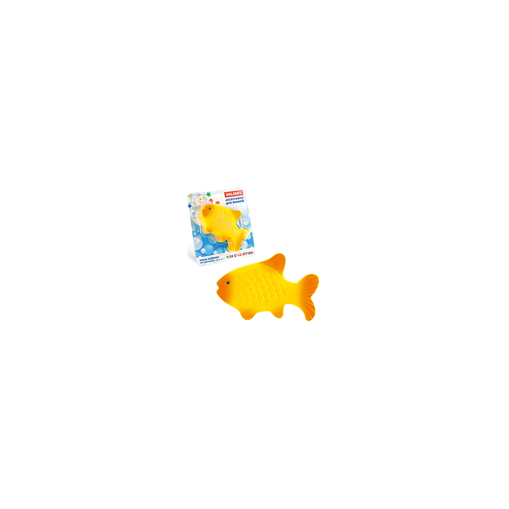 Набор ковриков для ванны на присосках Золотая рыбка, 6 штВанная комната<br>Набор ковриков для ванны на присосках Золотая рыбка, 6 шт – безопасное купание обеспечено.<br>Коврики крепятся к ванной с помощью присосок и не дают упасть. Позволяют маленьким непоседам превратить купание в игру без риска для жизни. Веселые, яркие и похожие на игрушки коврики сделаны из полностью безопасных материалов и содержат в себе антибактериальные компоненты. При высокой температуре воды коврики меняют свой цвет. <br><br>Дополнительно: <br><br>- 6 ковриков<br>- материал: винил<br>- размер:  12 х 9,5 см<br><br>Набор ковриков для ванны на присосках Золотая рыбка, 6 шт можно купить в нашем интернет магазине.<br><br>Ширина мм: 135<br>Глубина мм: 95<br>Высота мм: 15<br>Вес г: 181<br>Возраст от месяцев: 3<br>Возраст до месяцев: 36<br>Пол: Унисекс<br>Возраст: Детский<br>SKU: 4923437
