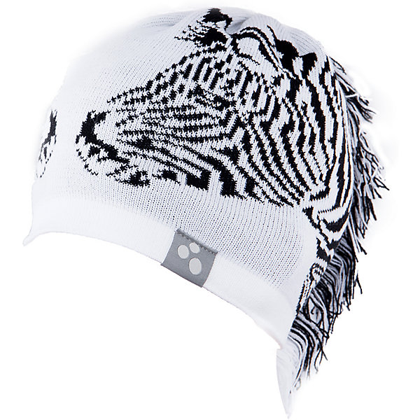Шапка Huppa ZebraДемисезонные<br>Характеристики товара:<br><br>• модель: Zebra;<br>• цвет: белый/черный;<br>• состав: 50% шерсть мериноса, 50% акрил;<br>• подкладка: 100% хлопок;<br>• утеплитель: без дополнительного утепления;<br>• температурный режим: от 0°С до -25°С;<br>• сезон: зима;<br>• особенности: вязаная, с принтом;<br>• шапка на завязках;<br>• декорирована изображением зебры и «хвостом»;<br>• светоотражающий элемент;<br>• страна бренда: Эстония;<br>• страна изготовитель: Эстония.<br><br>Необычная зимняя шапка Zebra от Huppa (хуппа) непременно удивит и понравится ребенку и окружающим. Шапка изготовлена из шерсти и акрила, с подкладкой из хлопка, имеет 2 завязки. Оригинальный дизайн с зеброй и хвостиком смотрится очень необычно.<br><br>Шапку Zebra от бренда Huppa (Хуппа) можно купить в нашем интернет-магазине.<br>Ширина мм: 89; Глубина мм: 117; Высота мм: 44; Вес г: 155; Цвет: белый; Возраст от месяцев: 12; Возраст до месяцев: 24; Пол: Унисекс; Возраст: Детский; Размер: 47-49,55-57,51-53; SKU: 4923489;