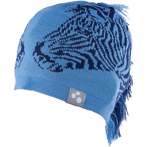 Шапка Huppa ZebraГоловные уборы<br>Характеристики товара:<br><br>• модель: Zebra;<br>• цвет: синий/черный;<br>• состав: 50% шерсть мериноса, 50% акрил;<br>• подкладка: 100% хлопок;<br>• утеплитель: без дополнительного утепления;<br>• температурный режим: от 0°С до -25°С;<br>• сезон: зима;<br>• особенности: вязаная, с принтом;<br>• шапка на завязках;<br>• декорирована изображением зебры и «хвостом»;<br>• светоотражающий элемент;<br>• страна бренда: Эстония;<br>• страна изготовитель: Эстония.<br><br>Необычная зимняя шапка Zebra от Huppa (хуппа) непременно удивит и понравится ребенку и окружающим. Шапка изготовлена из шерсти и акрила, с подкладкой из хлопка, имеет 2 завязки. Оригинальный дизайн с зеброй и хвостиком смотрится очень необычно.<br><br>Шапку Zebra от бренда Huppa (Хуппа) можно купить в нашем интернет-магазине.<br>Ширина мм: 89; Глубина мм: 117; Высота мм: 44; Вес г: 155; Цвет: синий; Возраст от месяцев: 12; Возраст до месяцев: 24; Пол: Мужской; Возраст: Детский; Размер: 47-49,55-57,51-53; SKU: 4923493;