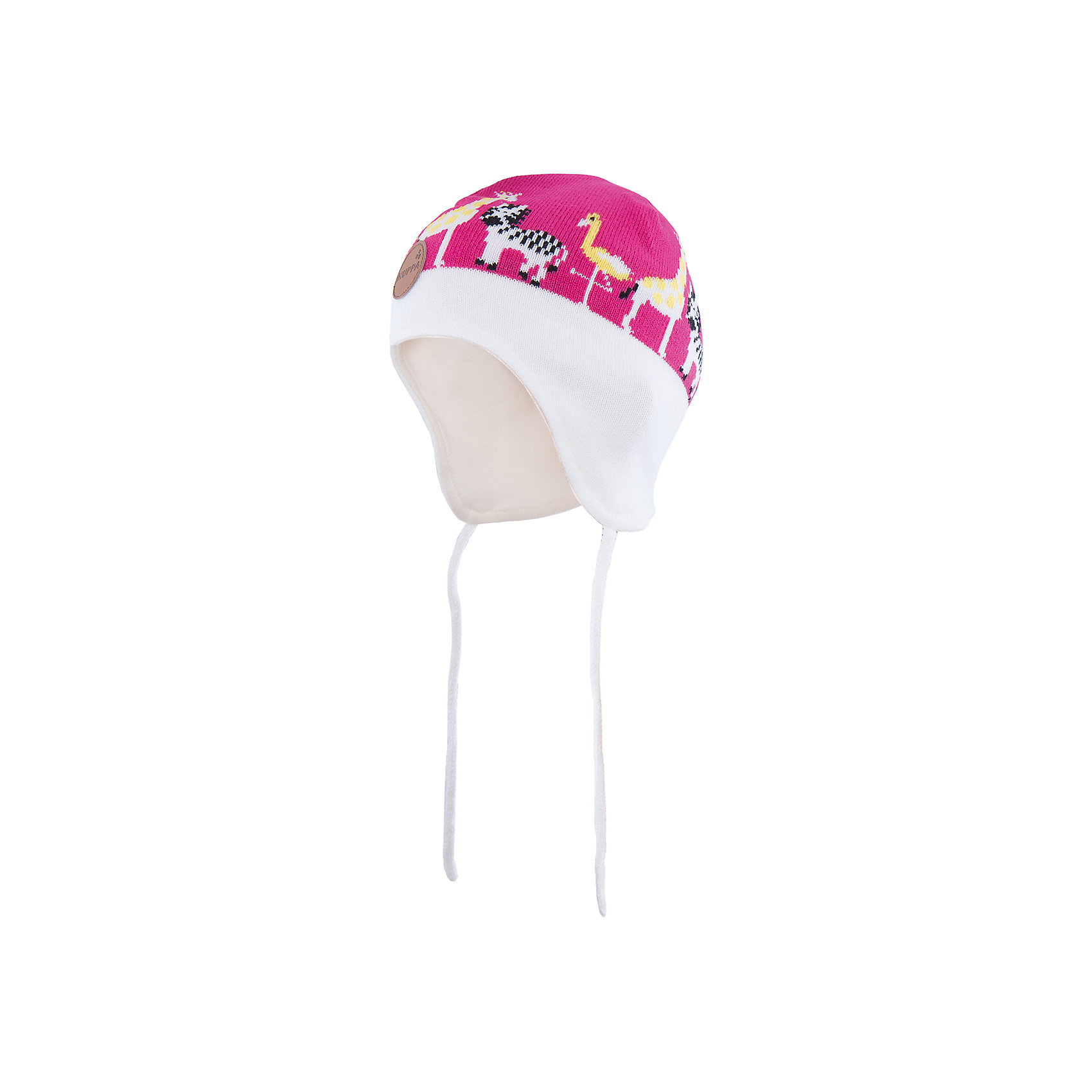 Шапка  HuppaДемисезонные<br>Стильная шапка Karro со зверюшками от Huppa(хуппа) изготовлена из акрила и прекрасно сохраняет тепло. Кроме того, она отлично закрывает уши и не даст ребенку замерзнуть, даже в мороз!<br><br>Дополнительная информация:<br>Цвет: белый/розовый<br>Состав: 100% акрил<br>Подкладка: трикотаж - 100% хлопок<br><br>Шапку от Huppa(хуппа) вы можете приобрести в нашем интернет-магазине.<br><br>Ширина мм: 89<br>Глубина мм: 117<br>Высота мм: 44<br>Вес г: 155<br>Цвет: розовый<br>Возраст от месяцев: 12<br>Возраст до месяцев: 24<br>Пол: Женский<br>Возраст: Детский<br>Размер: 47-49,43-45,51-53<br>SKU: 4923505