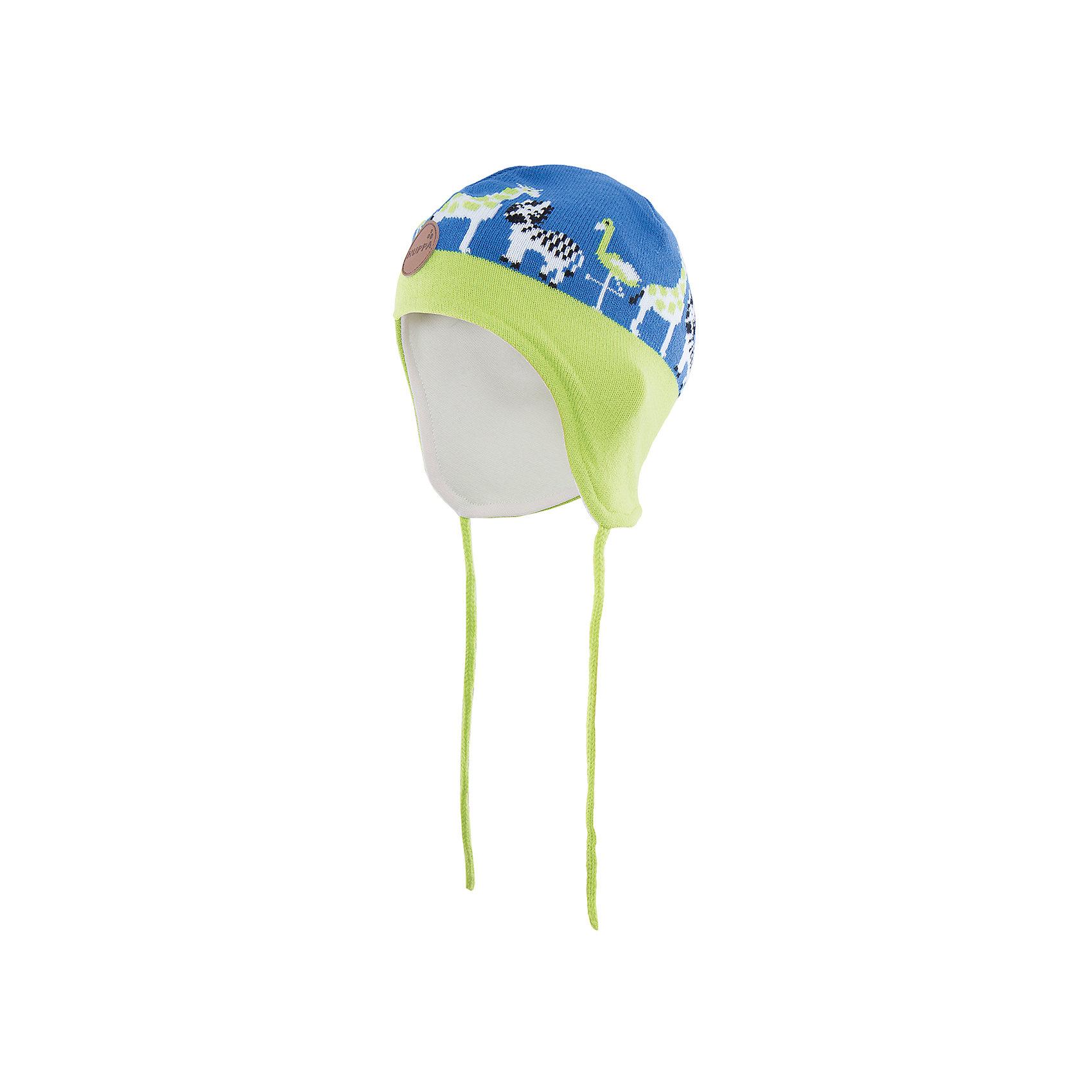 Шапка  HuppaШапочки<br>Стильная шапка Karro со зверюшками от Huppa(хуппа) изготовлена из акрила и прекрасно сохраняет тепло. Кроме того, она отлично закрывает уши и не даст ребенку замерзнуть, даже в мороз!<br><br>Дополнительная информация:<br>Цвет: синий/лайм<br>Состав: 100% акрил<br>Подкладка: трикотаж - 100% хлопок<br><br>Шапку от Huppa(хуппа) вы можете приобрести в нашем интернет-магазине.<br><br>Ширина мм: 89<br>Глубина мм: 117<br>Высота мм: 44<br>Вес г: 155<br>Цвет: синий<br>Возраст от месяцев: 9<br>Возраст до месяцев: 12<br>Пол: Мужской<br>Возраст: Детский<br>Размер: 43-45,47-49,51-53<br>SKU: 4923509