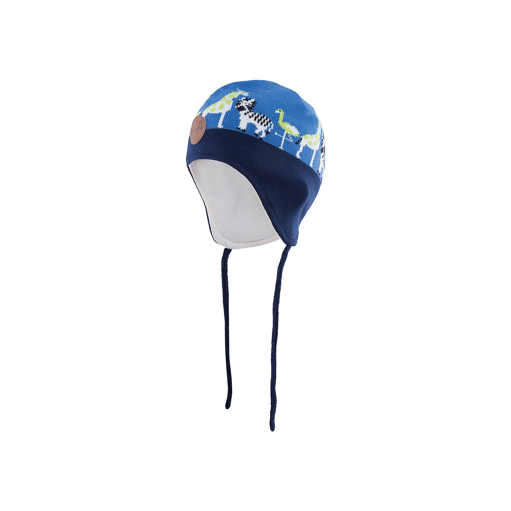 Шапка  HuppaШапочки<br>Стильная шапка Karro со зверюшками от Huppa(хуппа) изготовлена из акрила и прекрасно сохраняет тепло. Кроме того, она отлично закрывает уши и не даст ребенку замерзнуть, даже в мороз!<br><br>Дополнительная информация:<br>Цвет: синий/темно-синий<br>Состав: 100% акрил<br>Подкладка: трикотаж - 100% хлопок<br><br>Шапку от Huppa(хуппа) вы можете приобрести в нашем интернет-магазине.<br><br>Ширина мм: 89<br>Глубина мм: 117<br>Высота мм: 44<br>Вес г: 155<br>Цвет: синий<br>Возраст от месяцев: 9<br>Возраст до месяцев: 12<br>Пол: Мужской<br>Возраст: Детский<br>Размер: 43-45,51-53,47-49<br>SKU: 4923517