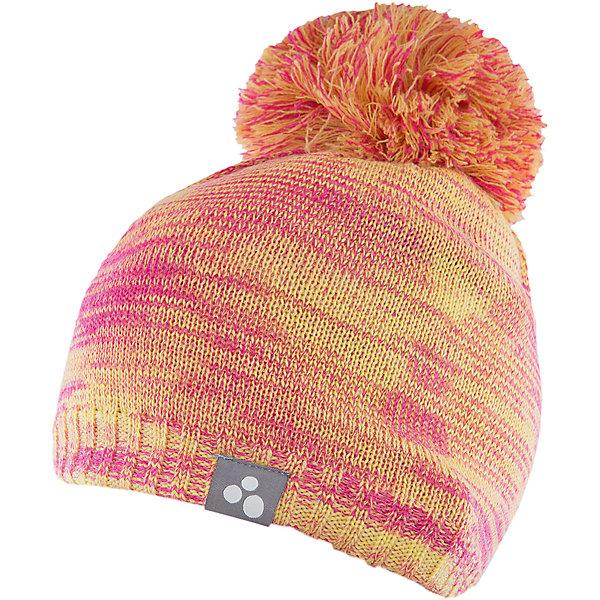 Шапка  HuppaГоловные уборы<br>Шапка Huppa Daimar изготовлена из шерсти мериноса и акрила. Имеет крупный помпон и светоотражательный элемент. Эта шапка согреет ребенка в холодную погоду, а идеальное сочетание цветов непременно порадуют юного модника!<br><br>Дополнительная информация:<br>Цвет: желтый/розовый<br>Состав: 50% шерсть мериноса, 50% акрил<br><br>Шапку Huppa Daimar можно приобрести в нашем интернет-магазине.<br><br>Ширина мм: 89<br>Глубина мм: 117<br>Высота мм: 44<br>Вес г: 155<br>Цвет: зеленый<br>Возраст от месяцев: 36<br>Возраст до месяцев: 72<br>Пол: Женский<br>Возраст: Детский<br>Размер: 51-53,55-57,57<br>SKU: 4923521