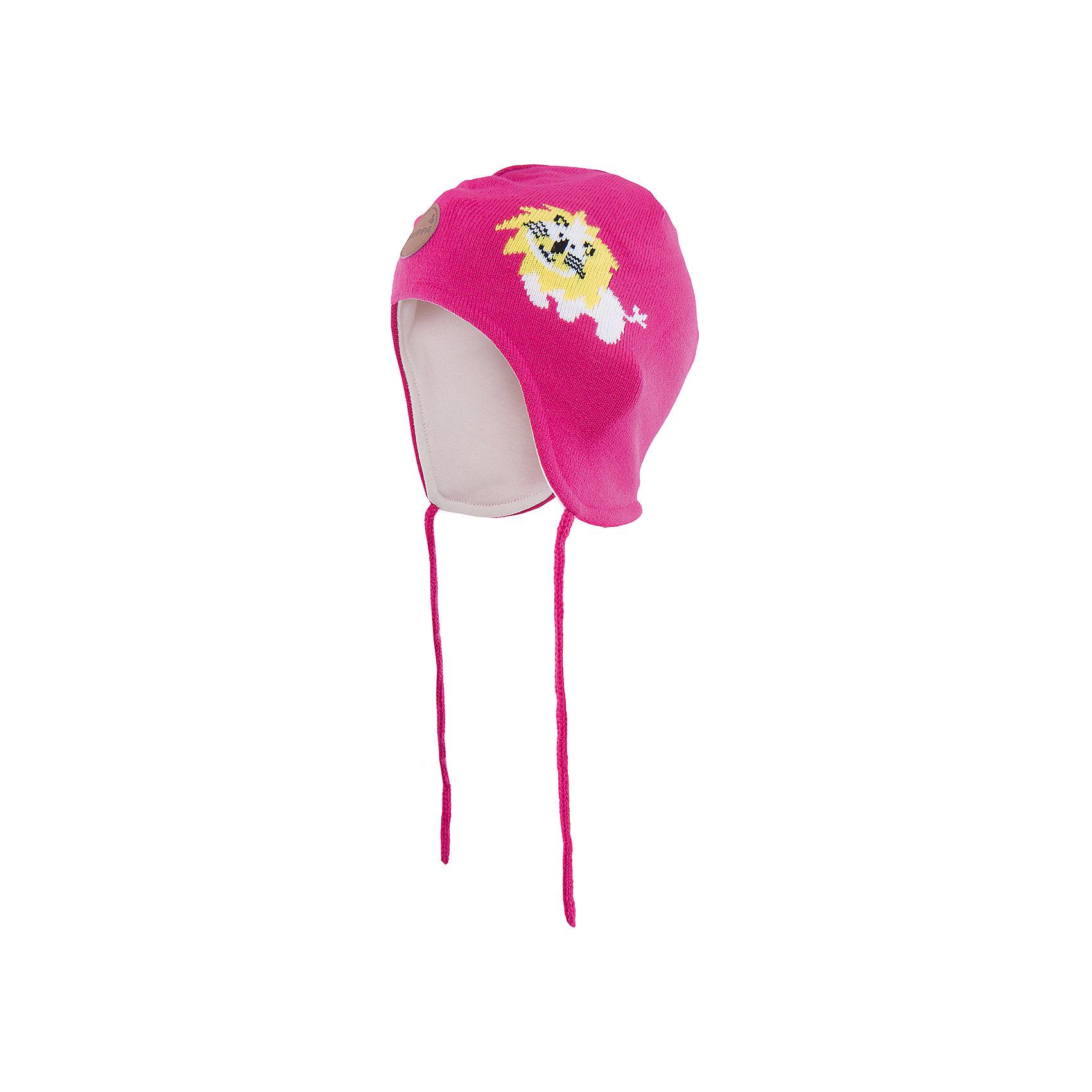 Шапка  HuppaЭта шапка Lion от Huppa(хуппа) надежно закрывает голову, уши и защищает от морозов. Она изготовлена из акрила, отлично сохраняющего тепло. Подкладка из хлопка приятна тела и не вызывает раздражения на чувствительной коже ребенка. Рисунок с милым львенком добавит веселые нотки к образу ребенка.<br><br>Дополнительная информация:<br>Цвет: фуксия<br>Материал: 100% акрил<br>Подкладка: 100% хлопок<br><br>Шапку Huppa(хуппа) вы можете приобрести в нашем интернет-магазине.<br><br>Ширина мм: 89<br>Глубина мм: 117<br>Высота мм: 44<br>Вес г: 155<br>Цвет: розовый<br>Возраст от месяцев: 36<br>Возраст до месяцев: 72<br>Пол: Женский<br>Возраст: Детский<br>Размер: 51-53,43-45,47-49<br>SKU: 4923537