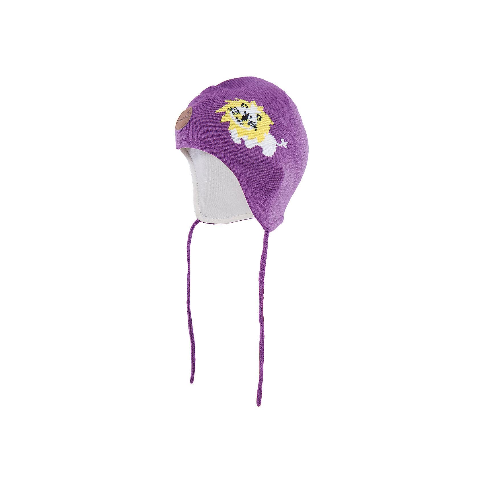 Шапка  HuppaГоловные уборы<br>Эта шапка Lion от Huppa(хуппа) надежно закрывает голову, уши и защищает от морозов. Она изготовлена из акрила, отлично сохраняющего тепло. Подкладка из хлопка приятна тела и не вызывает раздражения на чувствительной коже ребенка. Рисунок с милым львенком добавит веселые нотки к образу ребенка.<br><br>Дополнительная информация:<br>Цвет: лиловый<br>Материал: 100% акрил<br>Подкладка: 100% хлопок<br><br>Шапку Huppa(хуппа) вы можете приобрести в нашем интернет-магазине.<br><br>Ширина мм: 89<br>Глубина мм: 117<br>Высота мм: 44<br>Вес г: 155<br>Цвет: фиолетовый<br>Возраст от месяцев: 9<br>Возраст до месяцев: 12<br>Пол: Женский<br>Возраст: Детский<br>Размер: 43-45,51-53,47-49<br>SKU: 4923541