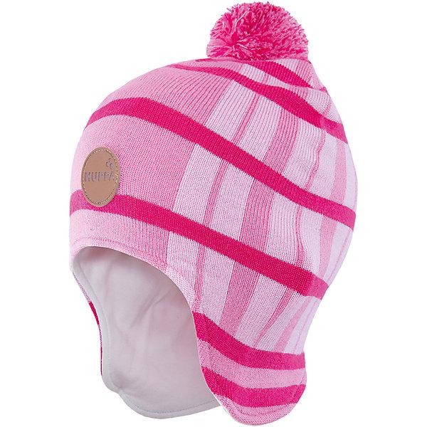 Шапка Huppa WindyГоловные уборы<br>Характеристики товара:<br><br>• модель: Windy;<br>• цвет: розовый;<br>• состав: 50% шерсть мериноса, 50% акрил;<br>• подкладка: 100% хлопок;<br>• утеплитель: без дополнительного утепления;<br>• температурный режим: от 0°С до -25°С;<br>• сезон: зима;<br>• особенности: вязаная, в полоску;<br>• шапка с помпоном;<br>• светоотражающий элемент;<br>• страна бренда: Эстония;<br>• страна изготовитель: Эстония.<br><br>Удлиненная вязаная шапка Windy от Huppa (Хуппа) изготовлена из шерсти мериноса и акрила. Зимняя шапка отлично сохраняет тепло, надежно закрывает уши и не вызывает раздражения на коже, благодаря подкладке из хлопка. Шапка имеет рисунок с полосками, помпон и эмблему фирмы спереди.<br><br>Шапку Windy от бренда Huppa (Хуппа) можно купить в нашем интернет-магазине.<br>Ширина мм: 89; Глубина мм: 117; Высота мм: 44; Вес г: 155; Цвет: розовый; Возраст от месяцев: 12; Возраст до месяцев: 24; Пол: Женский; Возраст: Детский; Размер: 47-49,55-57,51-53; SKU: 4923549;