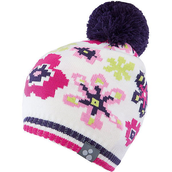 Шапка для девочки HuppaГоловные уборы<br>Яркая вязаная шапка Huppa Floral изготовлена из шерсти мериноса и акрила и способна согреть даже при сильном морозе. Шапка украшена ярким цветочным орнаментом, помпоном. Снизу вы найдете светоотражательные элементы. Превосходный выбор для юных модниц и модников!<br><br>Дополнительная информация:<br>Цвет: белый<br>Материал: 50% шерсть мериноса, 50% акрил<br><br><br>Шапку Huppa Floral можно приобрести в нашем интернет-магазине.<br><br>Ширина мм: 89<br>Глубина мм: 117<br>Высота мм: 44<br>Вес г: 155<br>Цвет: белый<br>Возраст от месяцев: 12<br>Возраст до месяцев: 24<br>Пол: Женский<br>Возраст: Детский<br>Размер: 47-49,55-57,57,51-53<br>SKU: 4923565