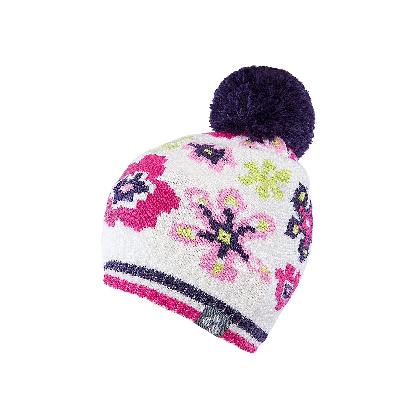 Шапка для девочки HuppaГоловные уборы<br>Яркая вязаная шапка Huppa Floral изготовлена из шерсти мериноса и акрила и способна согреть даже при сильном морозе. Шапка украшена ярким цветочным орнаментом, помпоном. Снизу вы найдете светоотражательные элементы. Превосходный выбор для юных модниц и модников!<br><br>Дополнительная информация:<br>Цвет: белый<br>Материал: 50% шерсть мериноса, 50% акрил<br><br><br>Шапку Huppa Floral можно приобрести в нашем интернет-магазине.<br><br>Ширина мм: 89<br>Глубина мм: 117<br>Высота мм: 44<br>Вес г: 155<br>Цвет: белый<br>Возраст от месяцев: 132<br>Возраст до месяцев: 144<br>Пол: Женский<br>Возраст: Детский<br>Размер: 57,55-57,51-53,47-49<br>SKU: 4923565