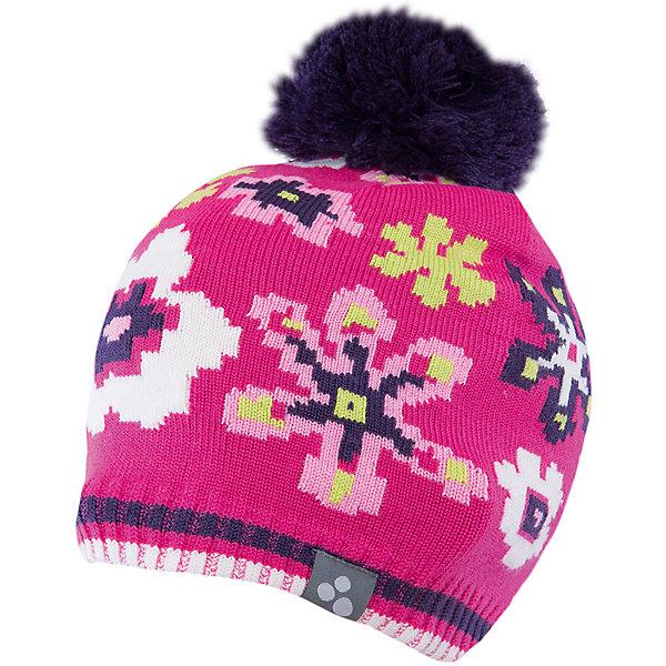 Шапка для девочки HuppaЗимние<br>Яркая вязаная шапка Huppa Floral изготовлена из шерсти мериноса и акрила и способна согреть даже при сильном морозе. Шапка украшена ярким цветочным орнаментом, помпоном. Снизу вы найдете светоотражательные элементы. Превосходный выбор для юных модниц и модников!<br><br>Дополнительная информация:<br>Цвет: фуксия<br>Материал: 50% шерсть мериноса, 50% акрил<br><br><br>Шапку Huppa Floral можно приобрести в нашем интернет-магазине.<br><br>Ширина мм: 89<br>Глубина мм: 117<br>Высота мм: 44<br>Вес г: 155<br>Цвет: розовый<br>Возраст от месяцев: 132<br>Возраст до месяцев: 144<br>Пол: Женский<br>Возраст: Детский<br>Размер: 57,55-57,47-49,51-53<br>SKU: 4923570
