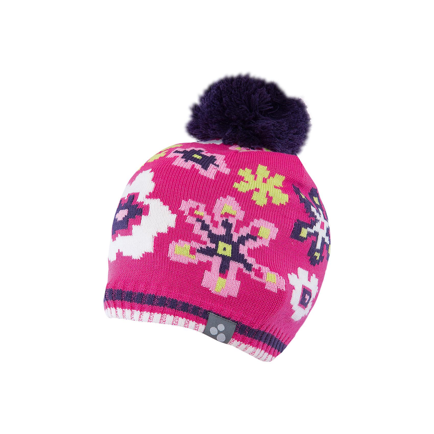 Шапка для девочки HuppaЗимние<br>Яркая вязаная шапка Huppa Floral изготовлена из шерсти мериноса и акрила и способна согреть даже при сильном морозе. Шапка украшена ярким цветочным орнаментом, помпоном. Снизу вы найдете светоотражательные элементы. Превосходный выбор для юных модниц и модников!<br><br>Дополнительная информация:<br>Цвет: фуксия<br>Материал: 50% шерсть мериноса, 50% акрил<br><br><br>Шапку Huppa Floral можно приобрести в нашем интернет-магазине.<br><br>Ширина мм: 89<br>Глубина мм: 117<br>Высота мм: 44<br>Вес г: 155<br>Цвет: розовый<br>Возраст от месяцев: 132<br>Возраст до месяцев: 144<br>Пол: Женский<br>Возраст: Детский<br>Размер: 47-49,55-57,51-53,57<br>SKU: 4923570