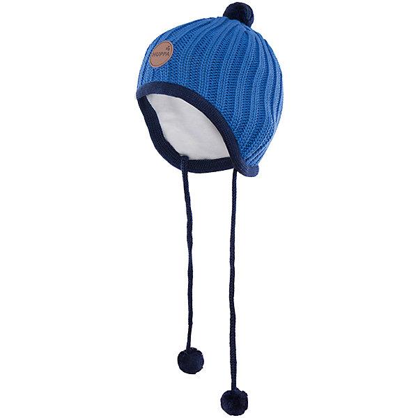 Шапка  HuppaГоловные уборы<br>Вязаная шапка JAKOB Huppa(Хуппа) с подкладкой из хлопка изготовлена из мериносовой шерсти и акрила. Шапку удобно носить, благодаря вязке резинкой.  С помощью лент с помпонами вы сможете завязать шапку, чтобы уши ребенка оставались в тепле. Модель украшена помпонами и эмблемой марки.<br><br>Дополнительная информация:<br>Материал: 100% акрил<br>Подкладка: 100% хлопок<br>Цвет: синий<br><br>Вы можете приобрести шапку JAKOB Huppa(Хуппа) в нашем интернет-магазине.<br><br>Ширина мм: 89<br>Глубина мм: 117<br>Высота мм: 44<br>Вес г: 155<br>Цвет: синий<br>Возраст от месяцев: 9<br>Возраст до месяцев: 12<br>Пол: Мужской<br>Возраст: Детский<br>Размер: 43-45,51-53,39-43,47-49<br>SKU: 4923802