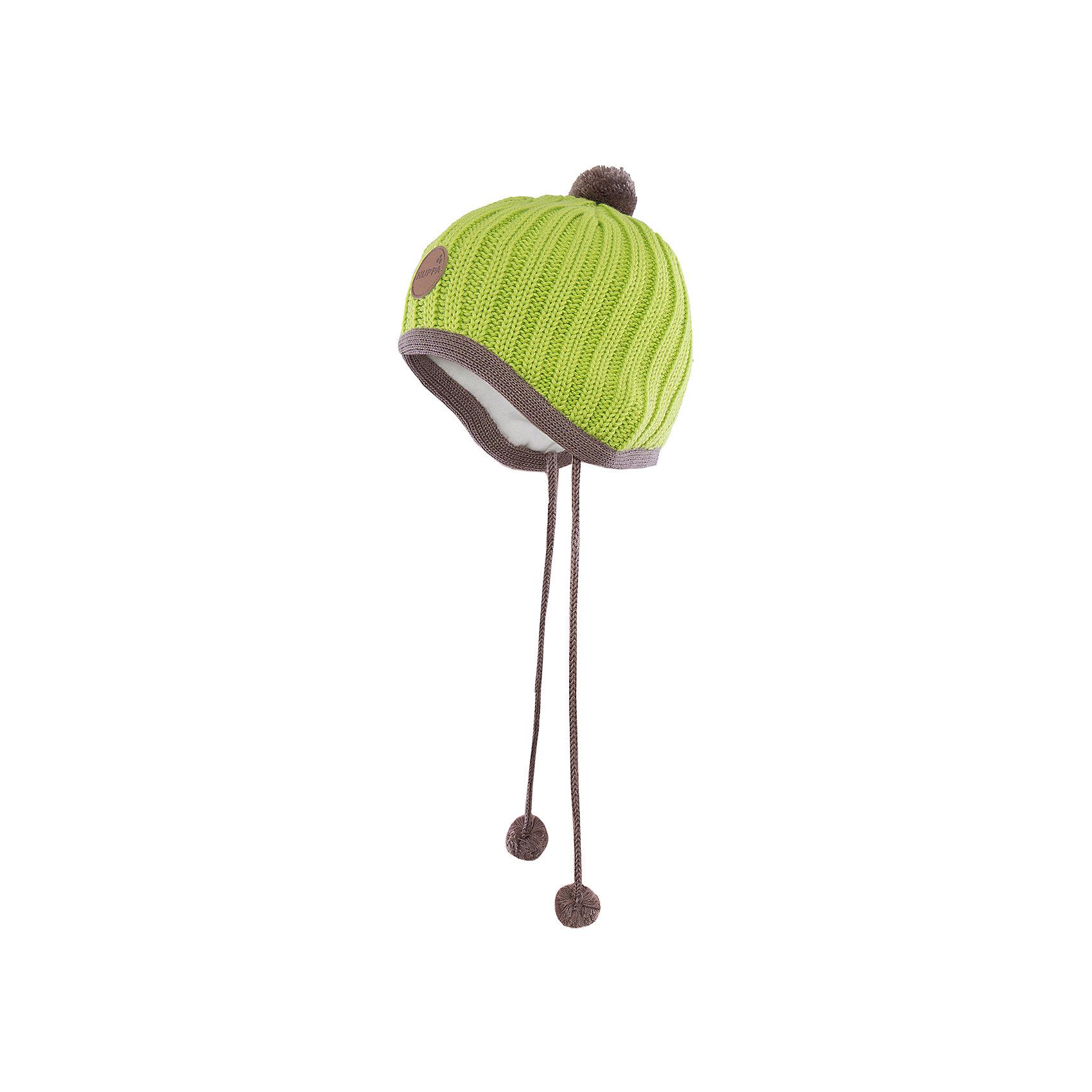 Шапка  HuppaВязаная шапка JAKOB Huppa(Хуппа) с подкладкой из хлопка изготовлена из мериносовой шерсти и акрила. Шапку удобно носить, благодаря вязке резинкой.  С помощью лент с помпонами вы сможете завязать шапку, чтобы уши ребенка оставались в тепле. Модель украшена помпонами и эмблемой марки.<br><br>Дополнительная информация:<br>Материал: 100% акрил<br>Подкладка: 100% хлопок<br>Цвет: салатовый<br><br>Вы можете приобрести шапку JAKOB Huppa(Хуппа) в нашем интернет-магазине.<br><br>Ширина мм: 89<br>Глубина мм: 117<br>Высота мм: 44<br>Вес г: 155<br>Цвет: зеленый<br>Возраст от месяцев: 36<br>Возраст до месяцев: 72<br>Пол: Мужской<br>Возраст: Детский<br>Размер: 51-53,43-45,39-43,47-49<br>SKU: 4923807