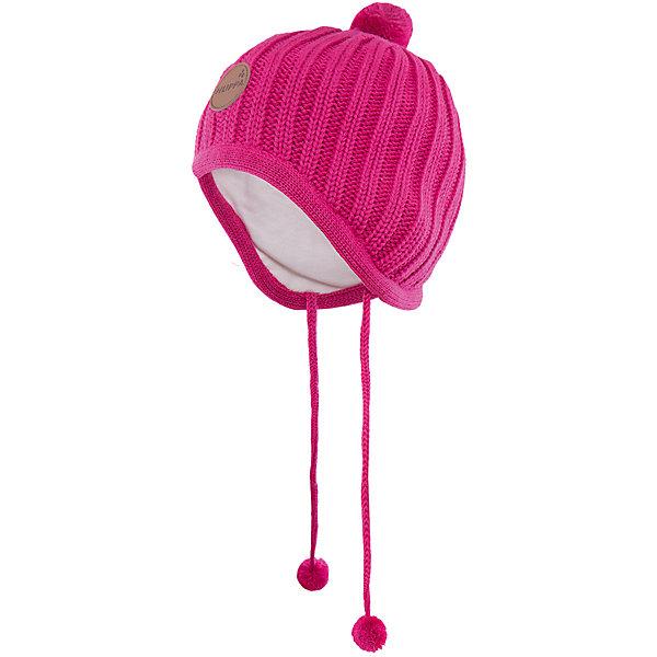 Шапка  HuppaГоловные уборы<br>Вязаная шапка JAKOB Huppa(Хуппа) с подкладкой из хлопка изготовлена из мериносовой шерсти и акрила. Шапку удобно носить, благодаря вязке резинкой.  С помощью лент с помпонами вы сможете завязать шапку, чтобы уши ребенка оставались в тепле. Модель украшена помпонами и эмблемой марки.<br><br>Дополнительная информация:<br>Материал: 100% акрил<br>Подкладка: 100% хлопок<br>Цвет: фуксия<br><br>Вы можете приобрести шапку JAKOB Huppa(Хуппа) в нашем интернет-магазине.<br><br>Ширина мм: 89<br>Глубина мм: 117<br>Высота мм: 44<br>Вес г: 155<br>Цвет: розовый<br>Возраст от месяцев: 36<br>Возраст до месяцев: 72<br>Пол: Женский<br>Возраст: Детский<br>Размер: 51-53,43-45,39-43,47-49<br>SKU: 4923812