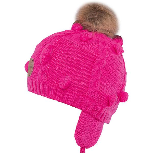 Шапка Huppa MacyЗимние<br>Характеристики товара:<br><br>• модель: Macy;<br>• цвет: фуксия;<br>• состав: шапка: 100% акрил; <br>• подкладка: 100% хлопок:<br>• температурный режим: от 0°С до -20°С;<br>• шапка на завязках;<br>• помпон из искусственного меха на макушке;<br>• особенности: вязаная, с помпоном;<br>• страна бренда: Финляндия;<br>• страна изготовитель: Эстония.<br><br>Вязаная детская шапка Macy. Теплая вязанная шапочка, прекрасно подойдет для повседневных прогулок в холодную погоду. Шапка изготовлена из 100% акрила, с хлопковой подкладкой. <br><br>Шапку Huppa Macy (Хуппа) можно купить в нашем интернет-магазине.<br>Ширина мм: 89; Глубина мм: 117; Высота мм: 44; Вес г: 155; Цвет: розовый; Возраст от месяцев: 3; Возраст до месяцев: 12; Пол: Женский; Возраст: Детский; Размер: 43-45,51-53,55-57,47-49; SKU: 4923834;