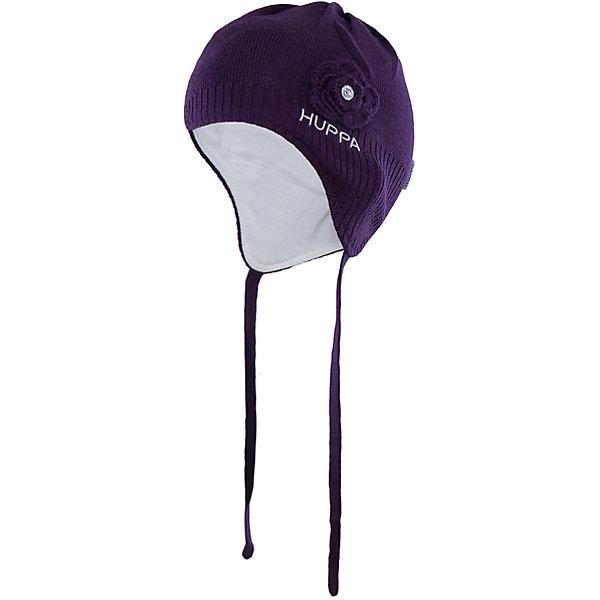 Шапка Huppa Loora для девочкиГоловные уборы<br>Характеристики товара:<br><br>• модель: Loora;<br>• цвет: темно-фиолетовый;<br>• состав: 50% шерсть мериноса, 50% акрил; <br>• подкладка: 100% хлопок:<br>• температурный режим: от 0°С до -20°С;<br>• особенности: вязаная;<br>• шапка на завязках;<br>• декорирована вязаным цветком со стразиком;<br>• страна бренда: Эстония;<br>• страна изготовитель: Эстония.<br><br>Вязаная шапка Loora Huppa (Хуппа) изготовлена из акрила с подкладкой из хлопка. Она отлично согреет девочку и защитит уши от ветра. Шапка имеет завязки и широкую резинку для более надежной фиксации. Модель украшена декоративным цветком со стразой.<br><br>Шапку Loora от бренда Huppa (Хуппа) можно купить в нашем интернет-магазине.<br>Ширина мм: 89; Глубина мм: 117; Высота мм: 44; Вес г: 155; Цвет: лиловый; Возраст от месяцев: 9; Возраст до месяцев: 12; Пол: Женский; Возраст: Детский; Размер: 43-45,47-49,51-53; SKU: 4923838;