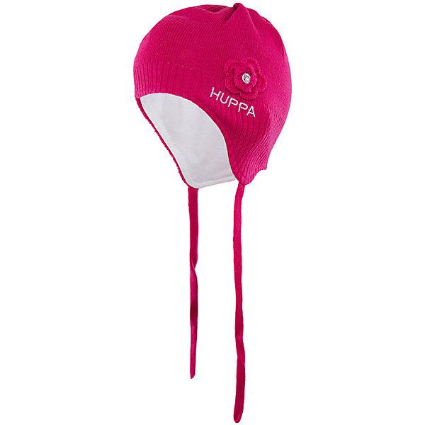 Шапка для девочки HuppaДемисезонные<br>Вязаная шапка LOORA Huppa(Хуппа) изготовлена из акрила с подкладкой из хлопка. Она отлично согреет девочку и защитит уши от ветра. Шапка имеет завязки и широкую резинку для более надежной фиксации. Модель украшена декоративным цветком со стразой. Прекрасны выбор для юных модниц!<br><br>Дополнительная информация:<br>Материал: 50% шерсть мериноса, 50% акрил<br>Подкладка: хлопок<br>Цвет: фуксия<br><br>Вы можете приобрести шапку LOORA Huppa(Хуппа) в нашем интернет-магазине.<br><br>Ширина мм: 89<br>Глубина мм: 117<br>Высота мм: 44<br>Вес г: 155<br>Цвет: розовый<br>Возраст от месяцев: 9<br>Возраст до месяцев: 12<br>Пол: Женский<br>Возраст: Детский<br>Размер: 43-45,51-53,47-49<br>SKU: 4923842