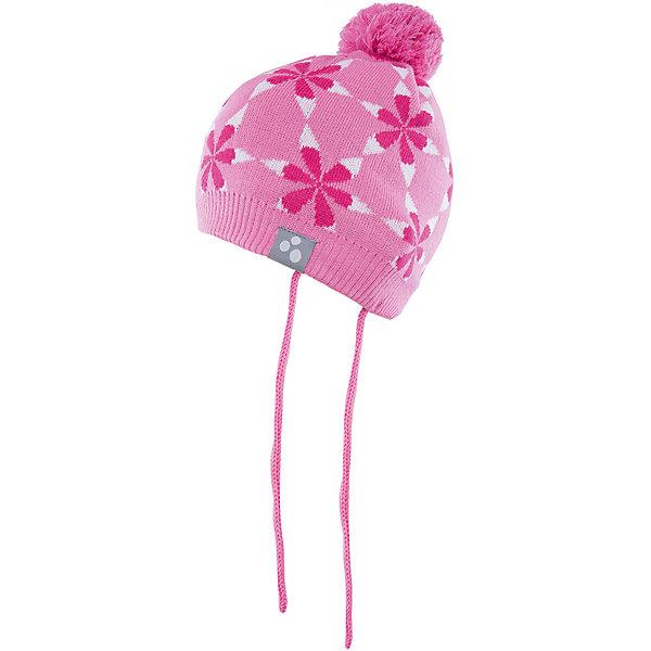 Шапка Huppa Eli для девочкиГоловные уборы<br>Характеристики товара:<br><br>• модель: Eli;<br>• цвет: розовый;<br>• состав: 50% шерсть мериноса, 50% акрил; <br>• подкладка: 100% хлопок:<br>• температурный режим: от 0°С до -20°С;<br>• особенности: вязаная, с помпоном;<br>• шапка на завязках;<br>• декорирована цветочным орнаментом;<br>• страна бренда: Эстония;<br>• страна изготовитель: Эстония.<br><br>Вязаная шапка Eli Huppa (Хуппа) изготовлена из материалов, которые отлично сохраняют тепло. Подкладка из хлопка приятна телу и не вызывает раздражения на коже. Шапка украшена цветочным орнаментом и помпоном. Есть светоотражающие элементы.<br><br>Шапку Eli от бренда Huppa (Хуппа) можно купить в нашем интернет-магазине.<br><br>Ширина мм: 89<br>Глубина мм: 117<br>Высота мм: 44<br>Вес г: 155<br>Цвет: розовый<br>Возраст от месяцев: 9<br>Возраст до месяцев: 12<br>Пол: Женский<br>Возраст: Детский<br>Размер: 43-45,51-53,47-49<br>SKU: 4923850