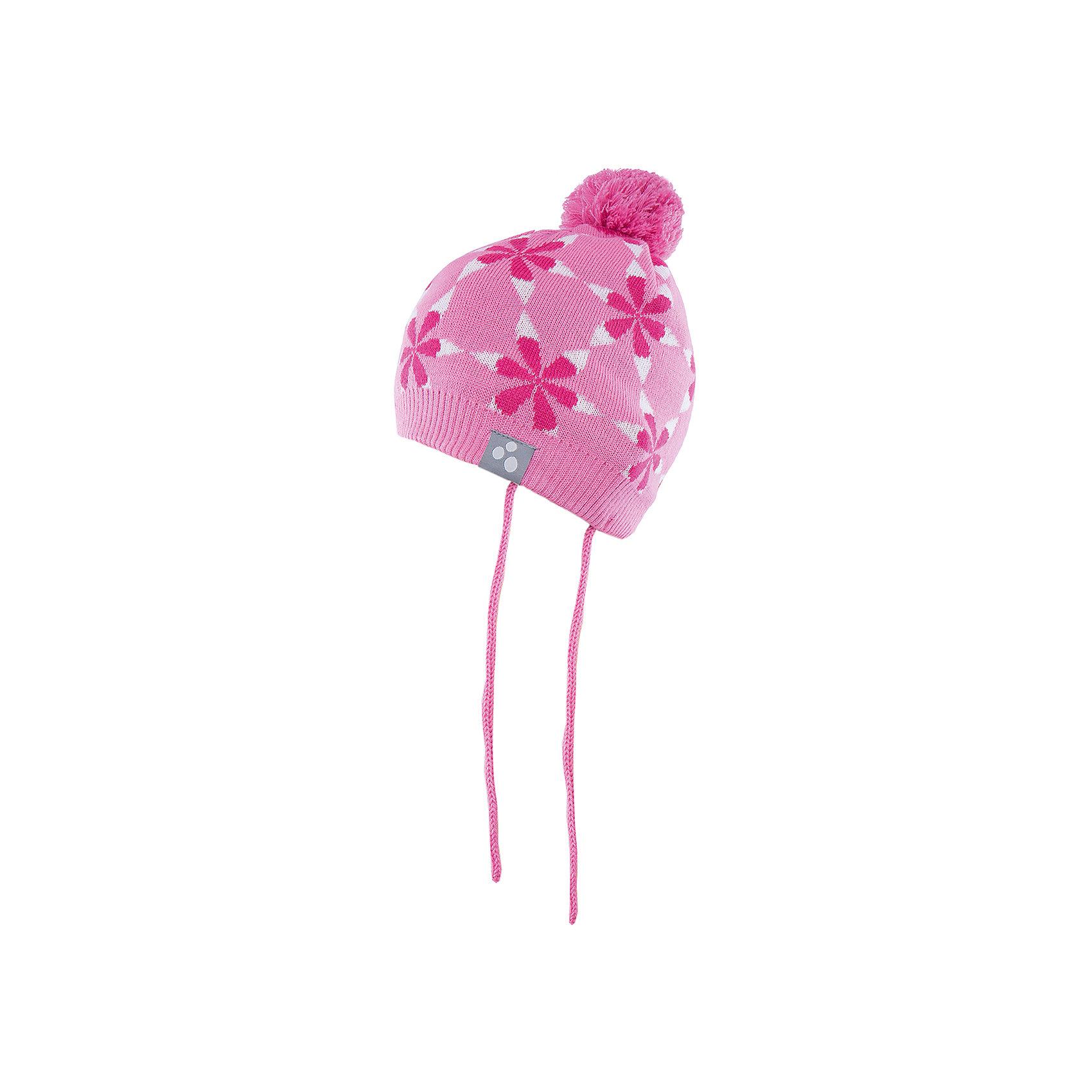 Шапка для девочки HuppaЗимние<br>Вязаная шапка ELI Huppa(Хуппа) изготовлена из материалов, которые отлично сохраняют тепло. Подкладка из хлопка приятна телу и не вызывает раздражения на коже. Шапка украшена цветочным орнаментом и помпоном. Есть светоотражающие элементы.<br><br>Дополнительная информация:<br>Материал: 50% шерсть мериноса, 50% акрил<br>Подкладка: хлопок<br>Цвет: розовый<br><br>Вы можете купить шапку ELI Huppa(Хуппа) в нашем интернет-магазине.<br><br>Ширина мм: 89<br>Глубина мм: 117<br>Высота мм: 44<br>Вес г: 155<br>Цвет: розовый<br>Возраст от месяцев: 9<br>Возраст до месяцев: 12<br>Пол: Женский<br>Возраст: Детский<br>Размер: 43-45,51-53,47-49<br>SKU: 4923850