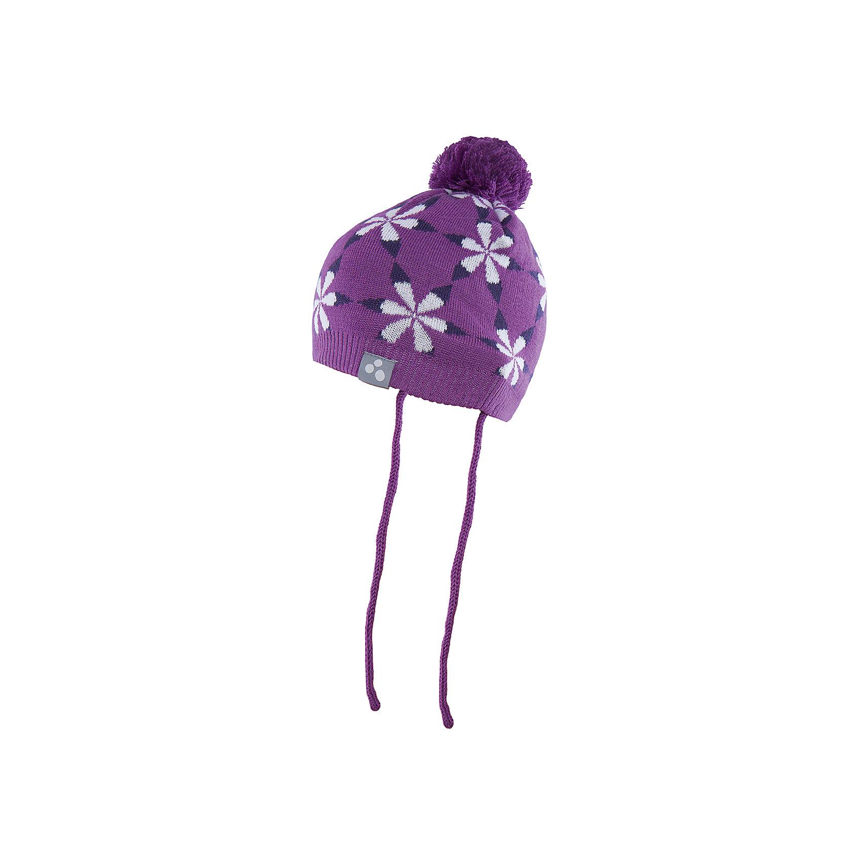 Шапка для девочки HuppaШапочки<br>Вязаная шапка ELI Huppa(Хуппа) изготовлена из материалов, которые отлично сохраняют тепло. Подкладка из хлопка приятна телу и не вызывает раздражения на коже. Шапка украшена цветочным орнаментом и помпоном. Есть светоотражающие элементы.<br><br>Дополнительная информация:<br>Материал: 50% шерсть мериноса, 50% акрил<br>Подкладка: хлопок<br>Цвет: лиловый<br><br>Вы можете купить шапку ELI Huppa(Хуппа) в нашем интернет-магазине.<br><br>Ширина мм: 89<br>Глубина мм: 117<br>Высота мм: 44<br>Вес г: 155<br>Цвет: фиолетовый<br>Возраст от месяцев: 9<br>Возраст до месяцев: 12<br>Пол: Женский<br>Возраст: Детский<br>Размер: 43-45,51-53,47-49<br>SKU: 4923854