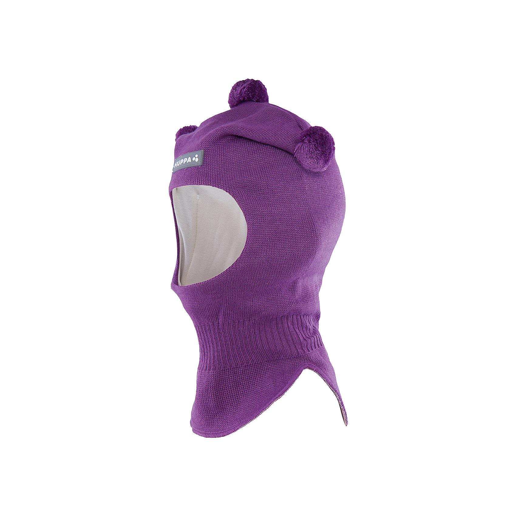 Шапка-шлем   HuppaШапочки<br>Шапка-шлем COCO Huppa(Хуппа) отлично подойдет для холодной зимы. Она идеально защитит голову, шею и уши ребенка от холода и ветра. В области шеи есть удобная широкая резинка для максимальной защиты от мороза. Шапка украшена тремя помпонами. Прекрасный вариант для долгих прогулок.<br><br>Дополнительная информация:<br>Материал: 50% шерсть мериноса, 50% акрил<br>Подкладка: хлопок<br>Цвет: лиловый<br><br>Шапку-шлем  Huppa(Хуппа) можно приобрести в нашем интернет-магазине.<br><br>Ширина мм: 89<br>Глубина мм: 117<br>Высота мм: 44<br>Вес г: 155<br>Цвет: лиловый<br>Возраст от месяцев: 9<br>Возраст до месяцев: 12<br>Пол: Женский<br>Возраст: Детский<br>Размер: 43-45,51-53,47-49<br>SKU: 4923874