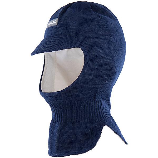 Шапка-шлем Huppa SindreЗимние<br>Характеристики товара:<br><br>• модель: Sindre;<br>• цвет: темно-синий;<br>• состав: 100% акрил;<br>• подкладка: 100% хлопок;<br>• сезон: зима;<br>• температурный режим: от +5 до - 30С;<br>• защитный козырек;<br>• особенности: вязаная, шапка с козырьком;<br>• страна бренда: Финляндия;<br>• страна изготовитель: Эстония.<br><br>Шапка-шлем Хуппа с защитным козырьком. Подкладка выполнена из хлопкового трикотажа, наружная ткань - это 100% акриловой пряжи. Шапка-шлем идеальна для ношения в зимние холода, потому что защищает шею и уши ребенка от холодного ветра.<br><br>Шапку-шлем Huppa Sindre (Хуппа) можно купить в нашем интернет-магазине.<br>Ширина мм: 89; Глубина мм: 117; Высота мм: 44; Вес г: 155; Цвет: синий; Возраст от месяцев: 84; Возраст до месяцев: 120; Пол: Мужской; Возраст: Детский; Размер: 55-57,47-49,51-53; SKU: 4923902;
