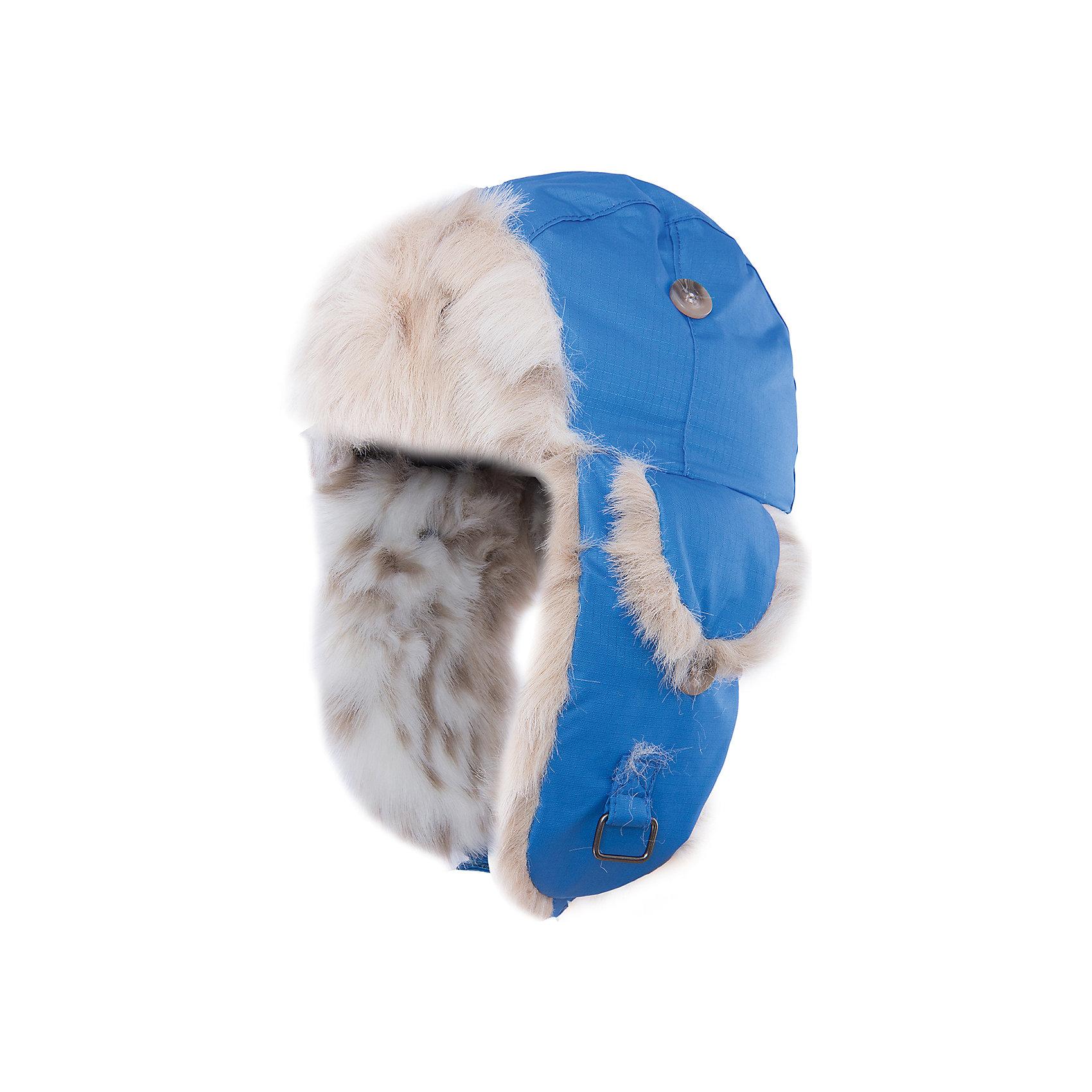 Шапка Kaspar HuppaГоловные уборы<br>Стильная зимняя шапка KASPAR Huppa(Хуппа).<br><br>Утеплитель: 100% полиэстер, 150 гр.<br><br>Температурный режим: до -25 градусов. Степень утепления – средняя. <br><br>* Температурный режим указан приблизительно — необходимо, прежде всего, ориентироваться на ощущения ребенка. Температурный режим работает в случае соблюдения правила многослойности – использования флисовой поддевы и термобелья.<br><br>С подкладкой из искусственного меха изготовлена с использованием дышащих водоотталкивающих материалов. Эта шапка отлично защитит голову и уши ребенка от холода и ветра. Кроме того, ее можно надеть в разных исполнениях: большие клапаны застегиваются на подбородке, маленькие и большие - на макушке. Замечательный вариант для тех, кто ценит качество и стиль.<br><br>Дополнительная информация:<br>Материал: 100% полиэстер<br>Подкладка: искуственный мех - 80% акрил, 20% полиэстер<br>Цвет: синий<br><br>Шапку KASPAR Huppa(Хуппа) можно приобрести в нашем интернет-магазине.<br><br>Ширина мм: 89<br>Глубина мм: 117<br>Высота мм: 44<br>Вес г: 155<br>Цвет: синий<br>Возраст от месяцев: 12<br>Возраст до месяцев: 24<br>Пол: Мужской<br>Возраст: Детский<br>Размер: 47-49,51-53,55-57<br>SKU: 4923961