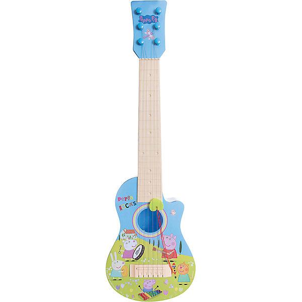 Гитара Пеппы, пластиковая, Свинка ПеппаГитары<br>Многие дети обожают играть на музыкальных инструментах. Сделать это занятие веселее поможет гитары Свинки Пеппы. Яркая гитара с её изображением имеет шесть струн с отличным звучанием и натяжением. В набор также входит медиатор. Она так похожа на настоящую!<br>Гитара обязательно порадует ребенка! Игра на ней помогает детям развивать музыкальный слух. Гитара сделана из качественных и безопасных для ребенка материалов.<br><br>Дополнительная информация:<br><br>цвет: разноцветный;<br>размер упаковки: 56 х 21 х 6,5 см;<br>вес: 430 г;<br>материал: пластик.<br><br>Гитару Пеппы, пластиковую, можно купить в нашем магазине.<br><br>Ширина мм: 560<br>Глубина мм: 205<br>Высота мм: 65<br>Вес г: 430<br>Возраст от месяцев: 36<br>Возраст до месяцев: 2147483647<br>Пол: Унисекс<br>Возраст: Детский<br>SKU: 4924161